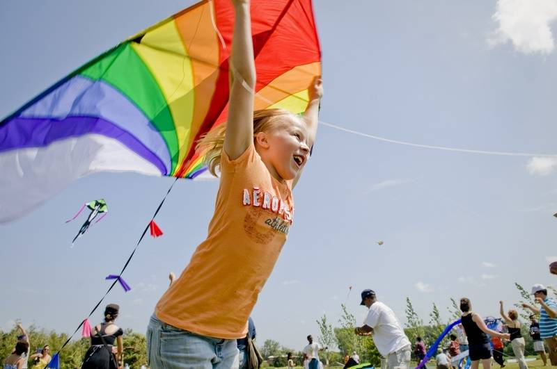 The Kite Festival at the Chicago Botanic Garden continues through Sunday, Aug. 10.
