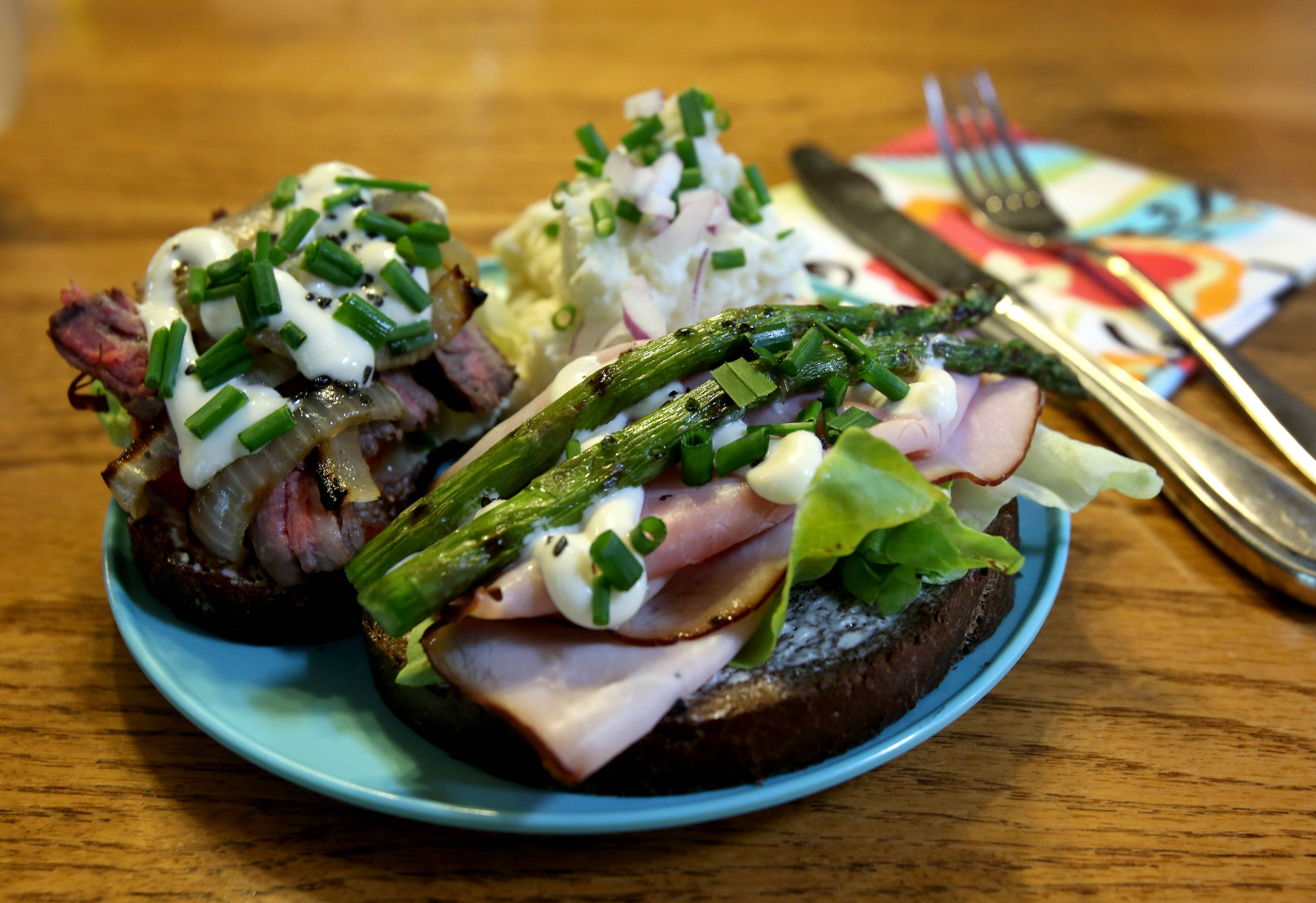 Ham and Asparagus Smushi