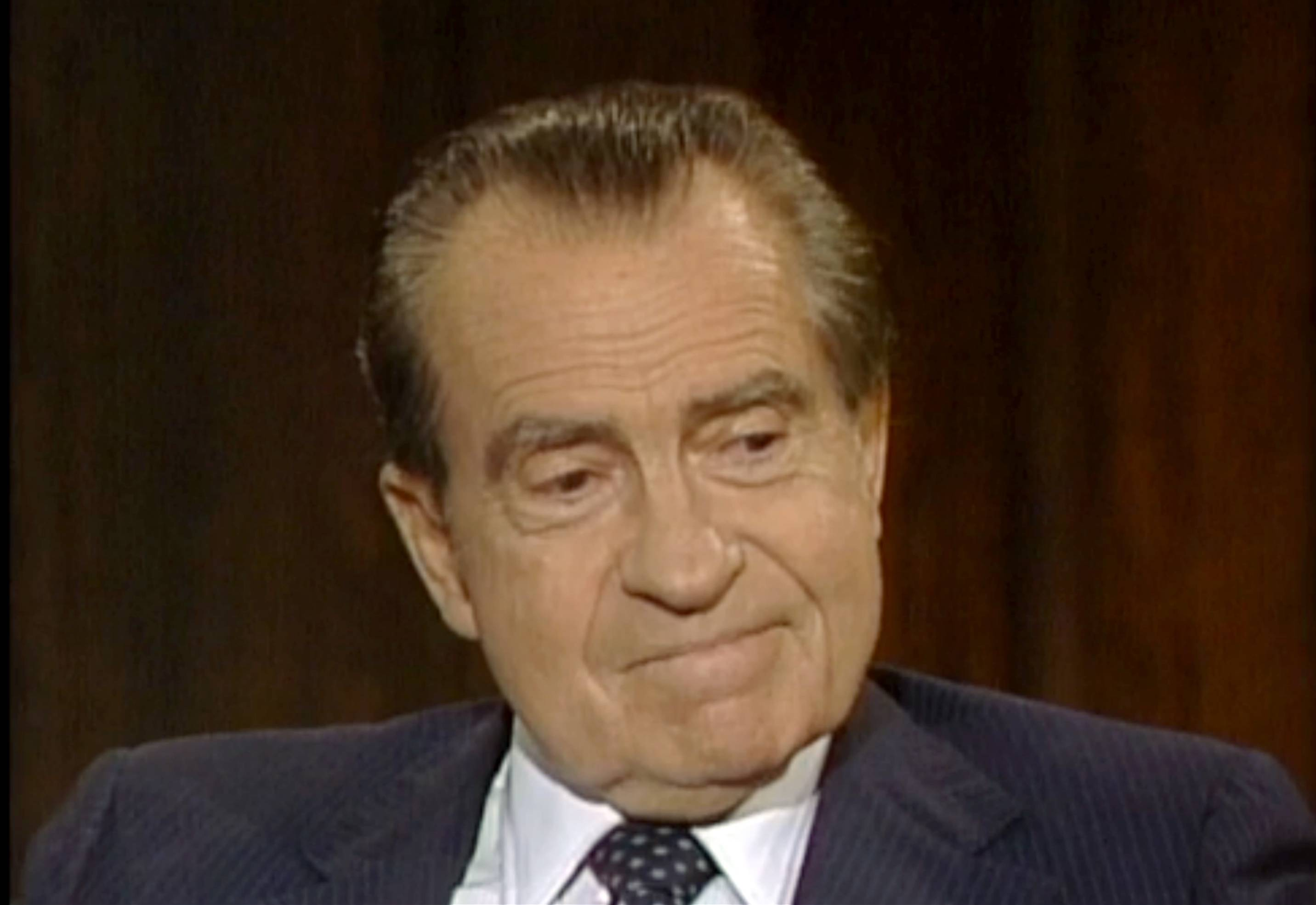 The Richard Nixon Presidential Library and the privately held Nixon Foundation are co-releasing a trove of videotaped interviews with the former president to mark the 40th anniversary of his resignation following the Watergate scandal. The 28 minutes of tape, detailing Nixon's personal turmoil in his final week in office, were culled from more than 30 hours of tape recorded in 1983.