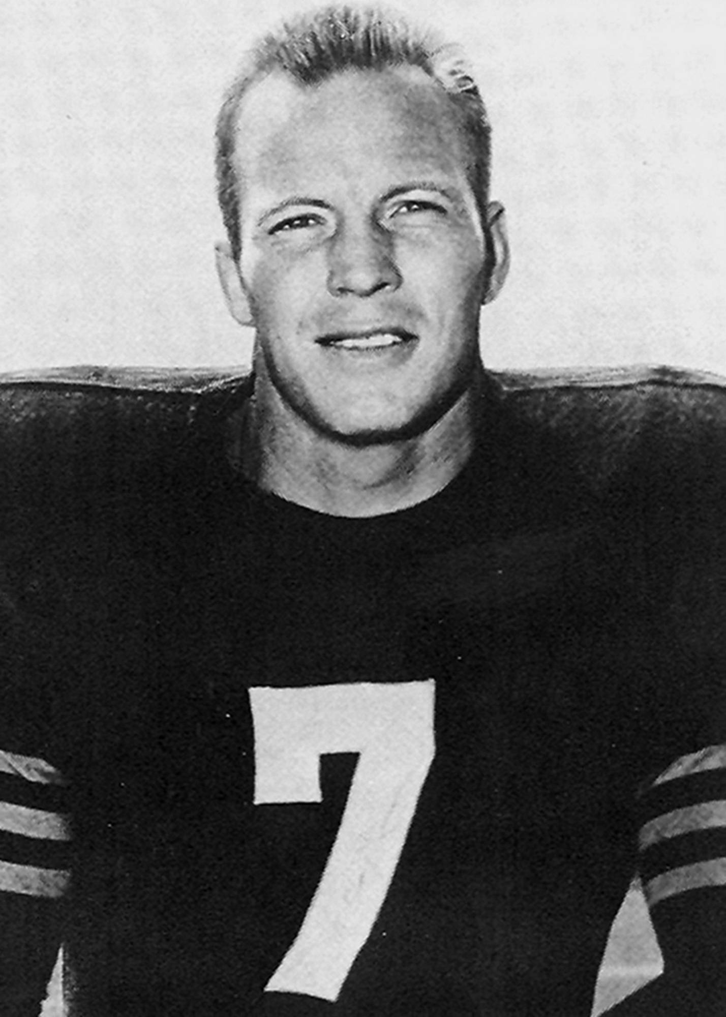 Defensive end Ed Sprinkle played for the Bears from 1944 to 1955 under coach George Halas.