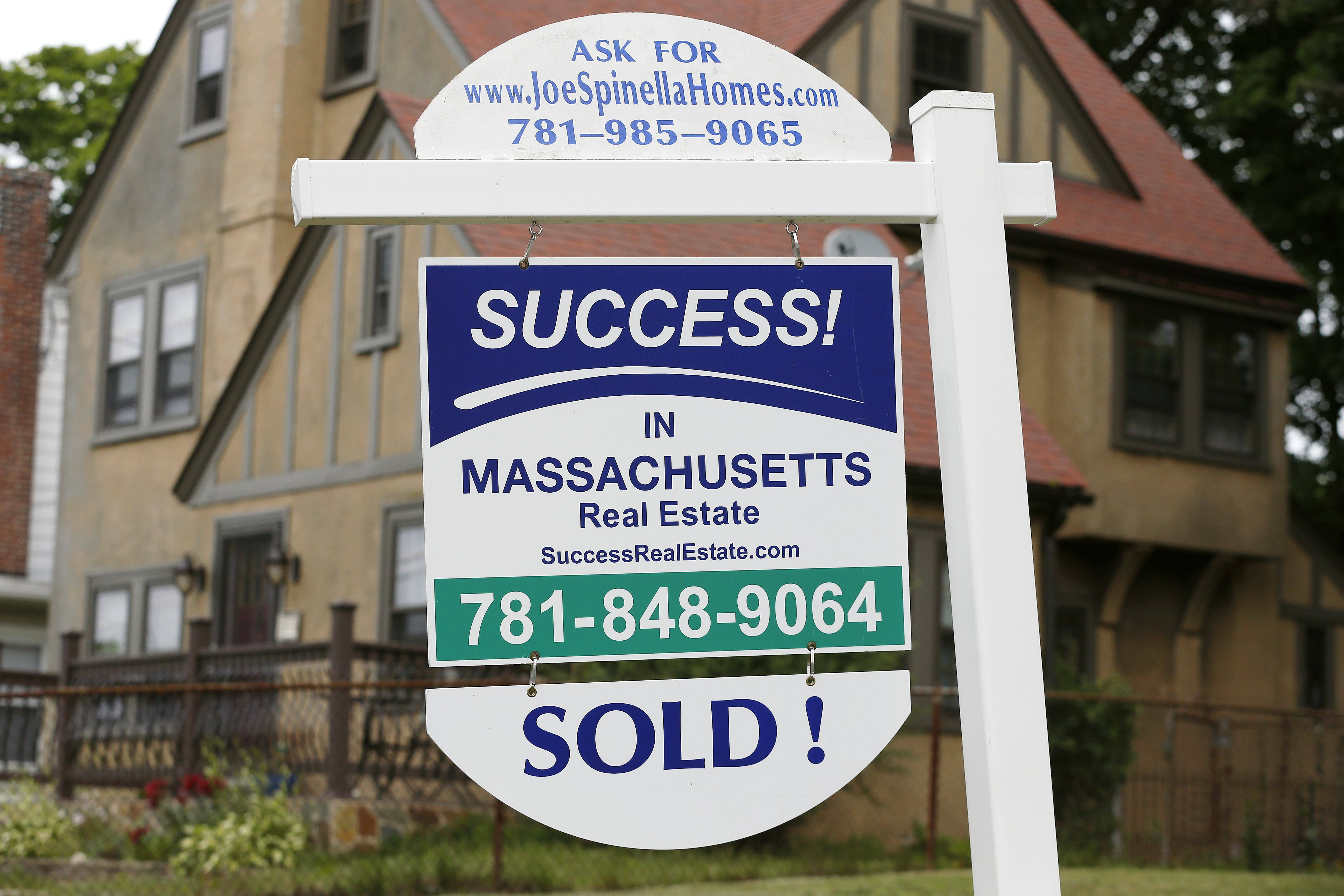 U.S. home prices rose in June by the smallest year-over-year amount in 20 months, slowed by modest sales and more properties coming on the market.