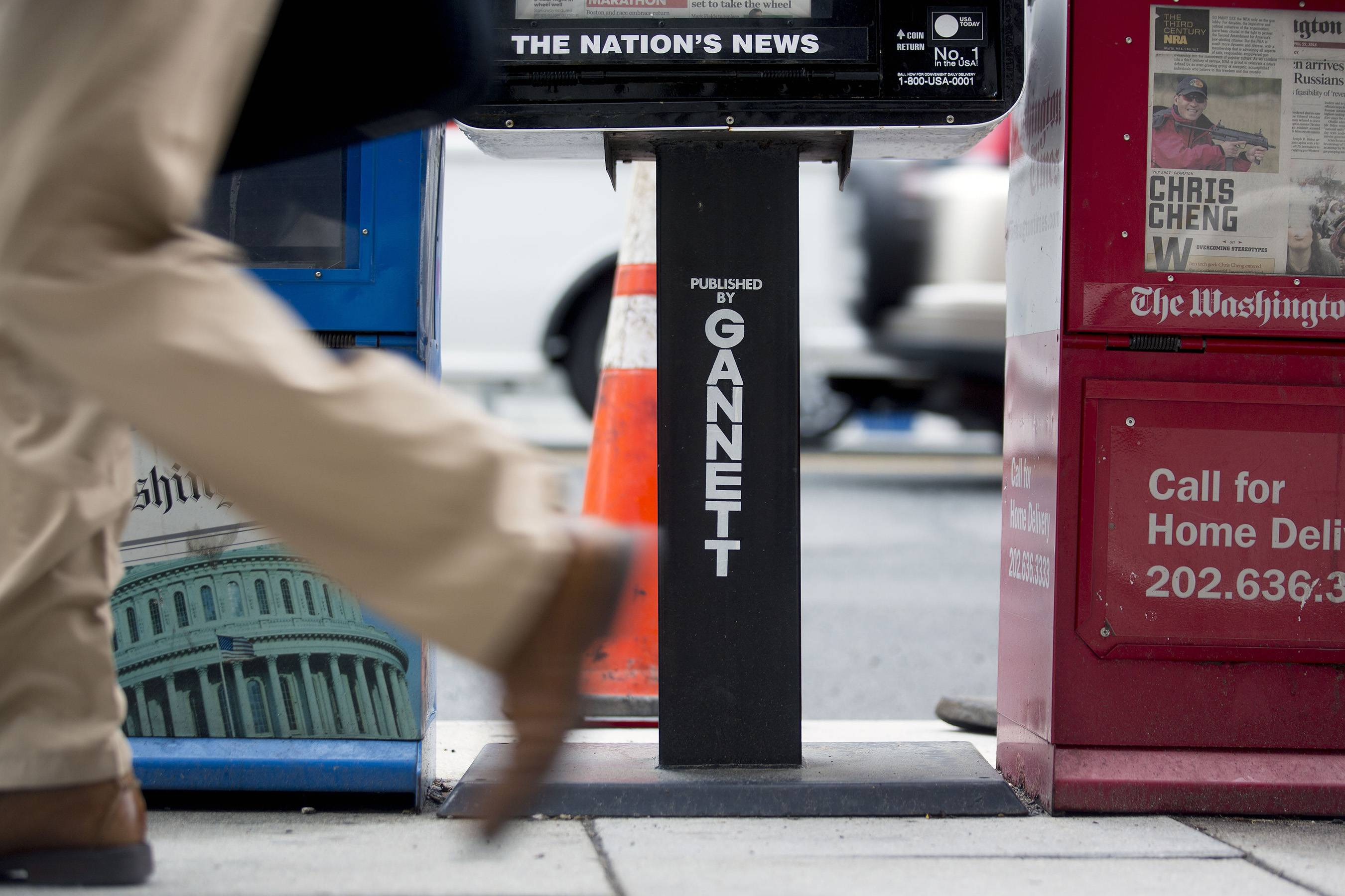 Gannett is splitting its broadcast and publishing business in two, joining other major media players in allowing fast growing TV and digital operations to operate more freely. The media company also announced Tuesday that it would take full ownership of Cars.com for $1.8 billion.