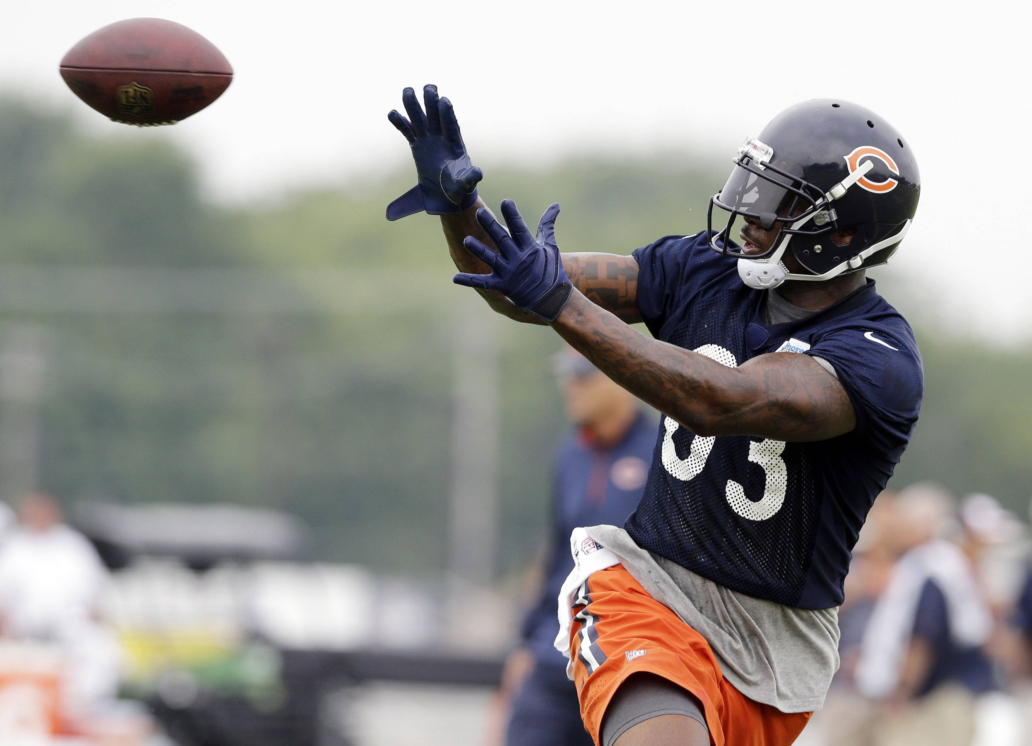 Chicago Bears tight end Martellus Bennett was suspended indefinitely and fined by team officials for disrupting practice and slamming rookie cornerback Kyle Fuller to the ground during Monday's training camp.