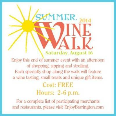 Barrington Summer Wine Walk August 16, 2014