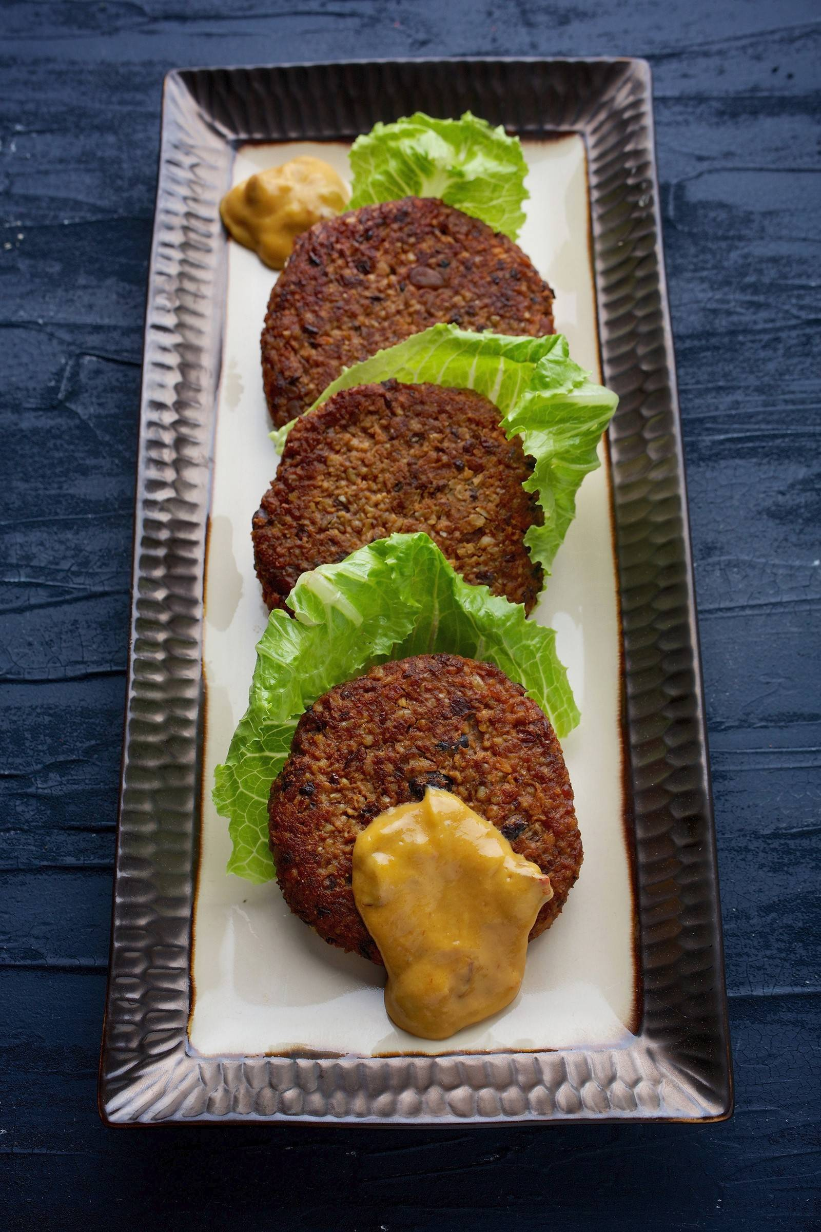 Freekeh Burgers with Chipotle Mustard
