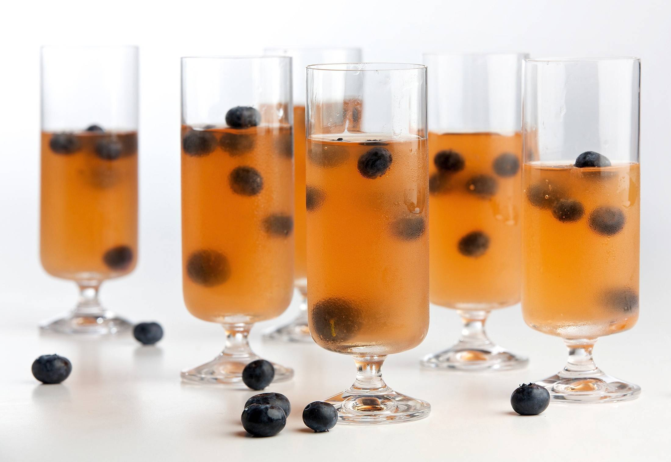 Blueberry and Gin Gelatins are a refreshing adult dessert.