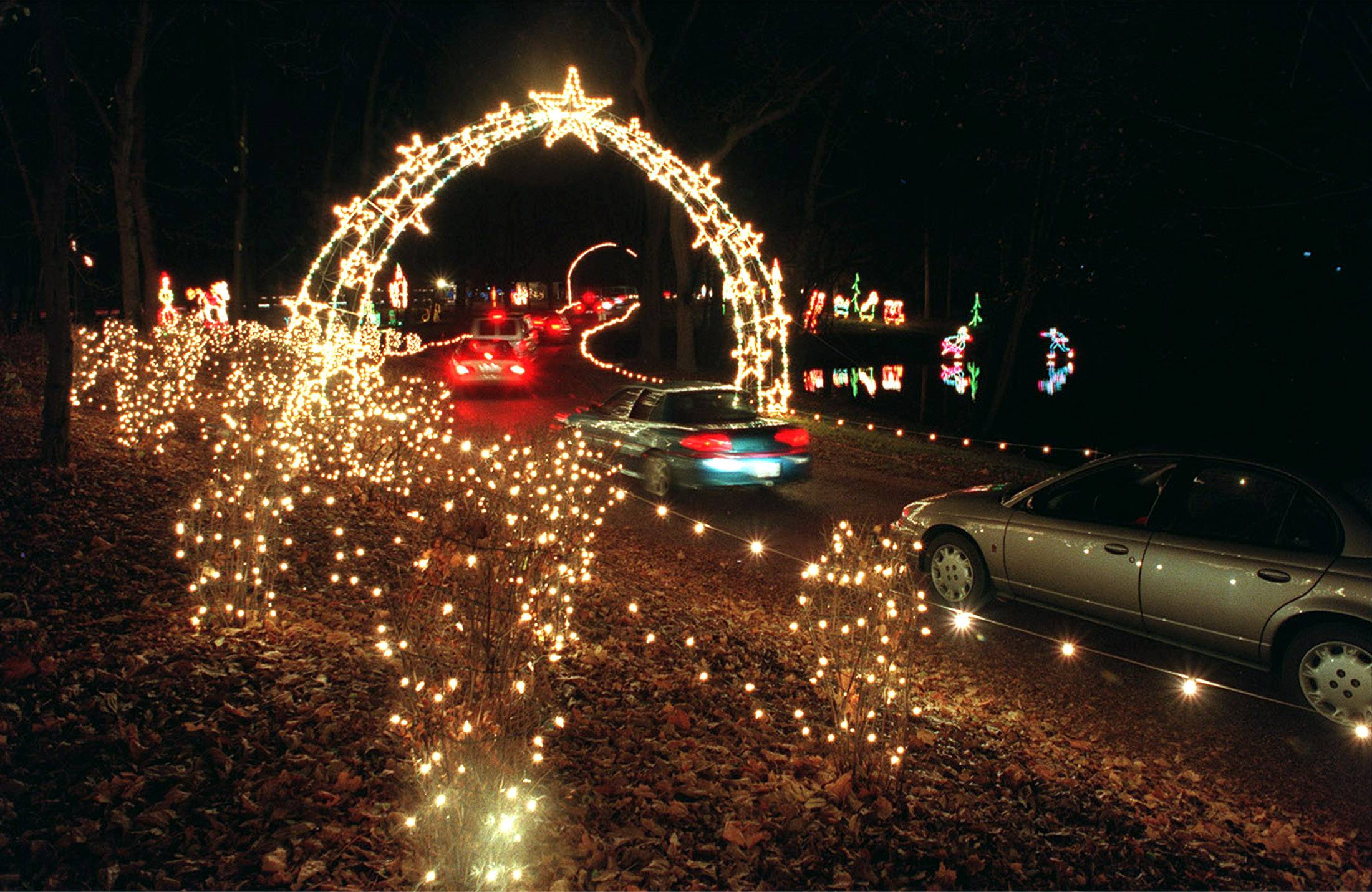 PAUL VALADE/pvalade@dailyherald.com The Winter Wonderland holiday light show in Vernon Hills will be held at least one more time at the Cuneo Mansion & Gardens.