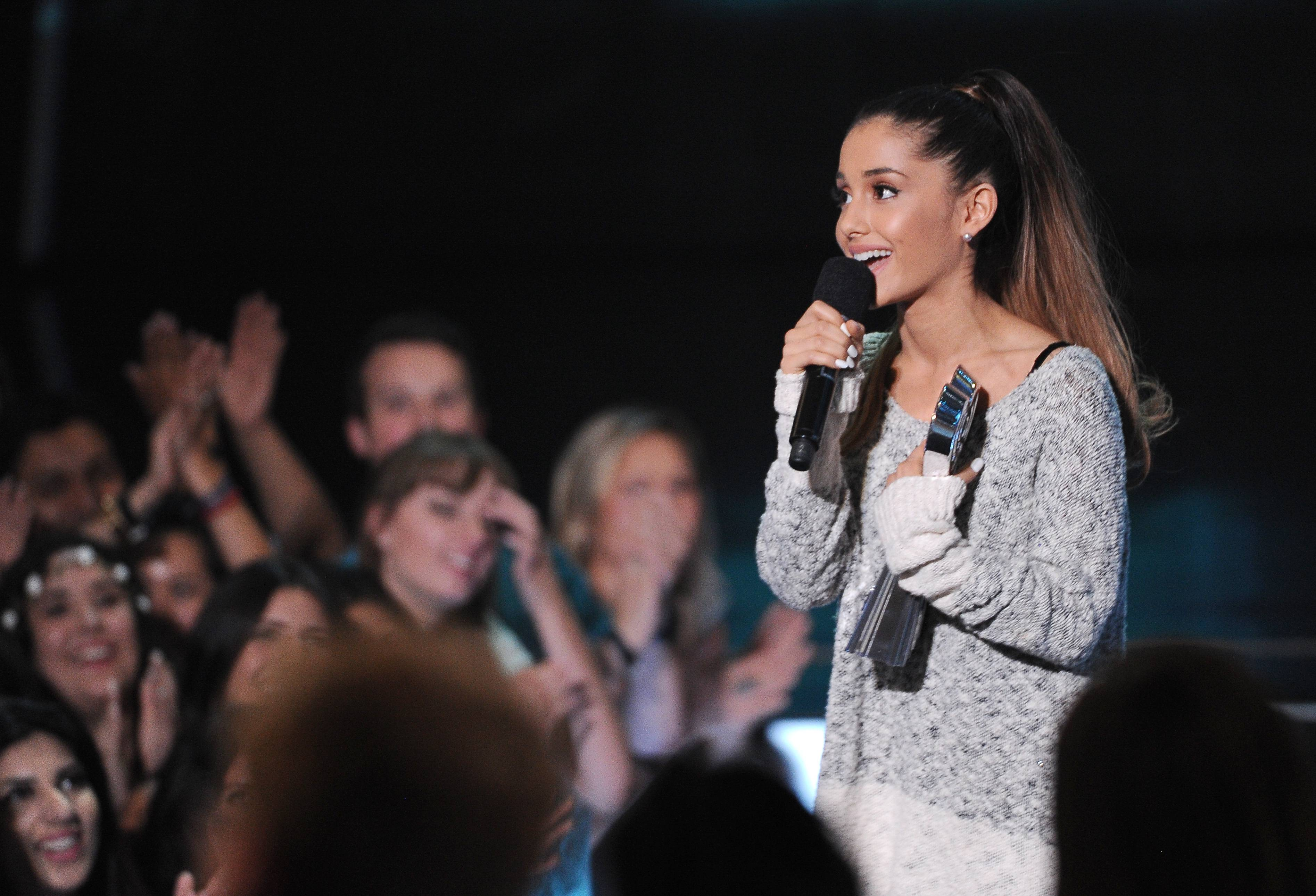 "Ariana Grande is having a breakthrough in music with the hit ""Problem."" The song, which features rapper Iggy Azalea, is from Grande's second album, ""My Everything,"" to be released Aug. 25."