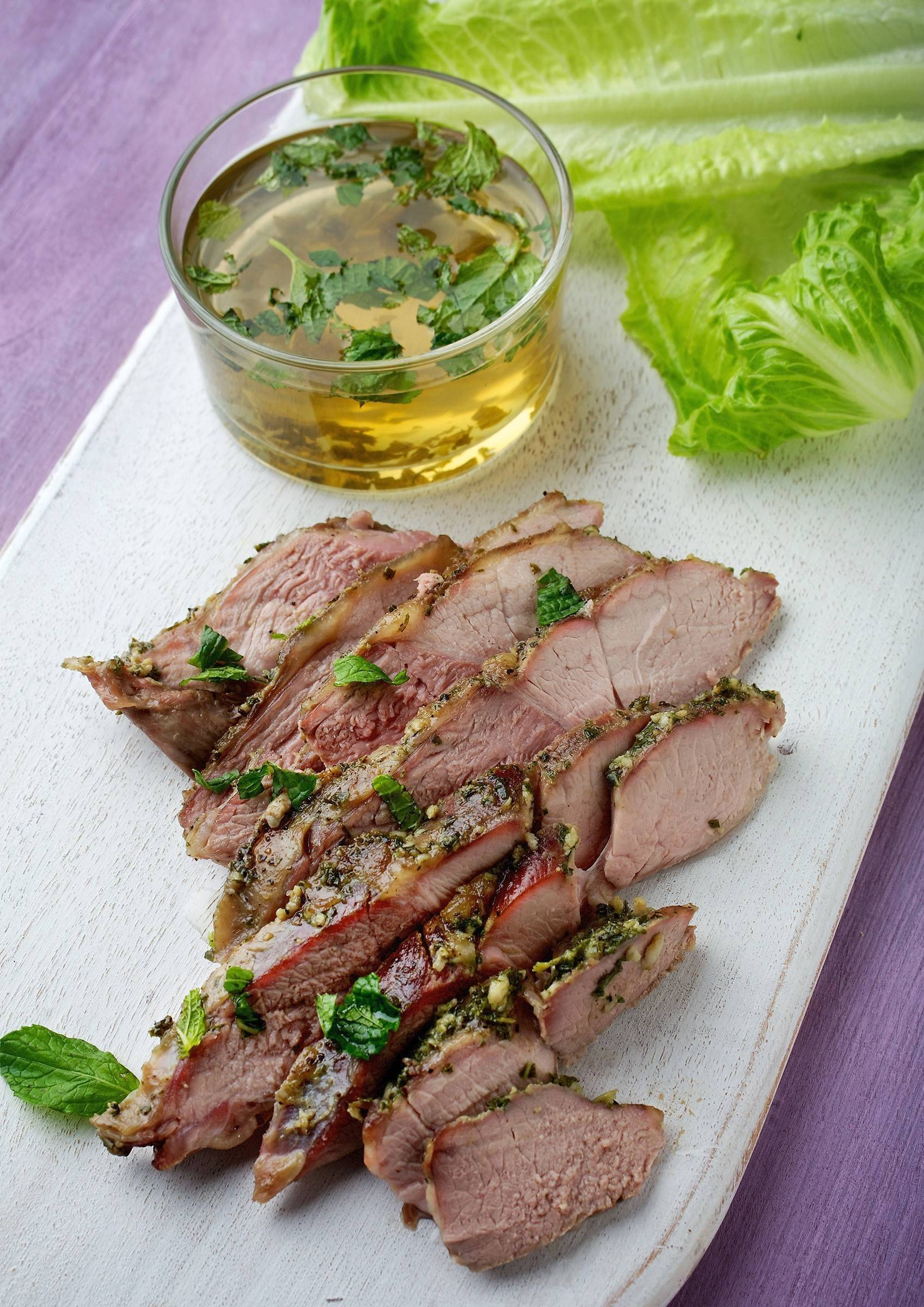 Have mint in your garden? Use some of it to make Butterflied Leg of Lamb with Sekenjabin.