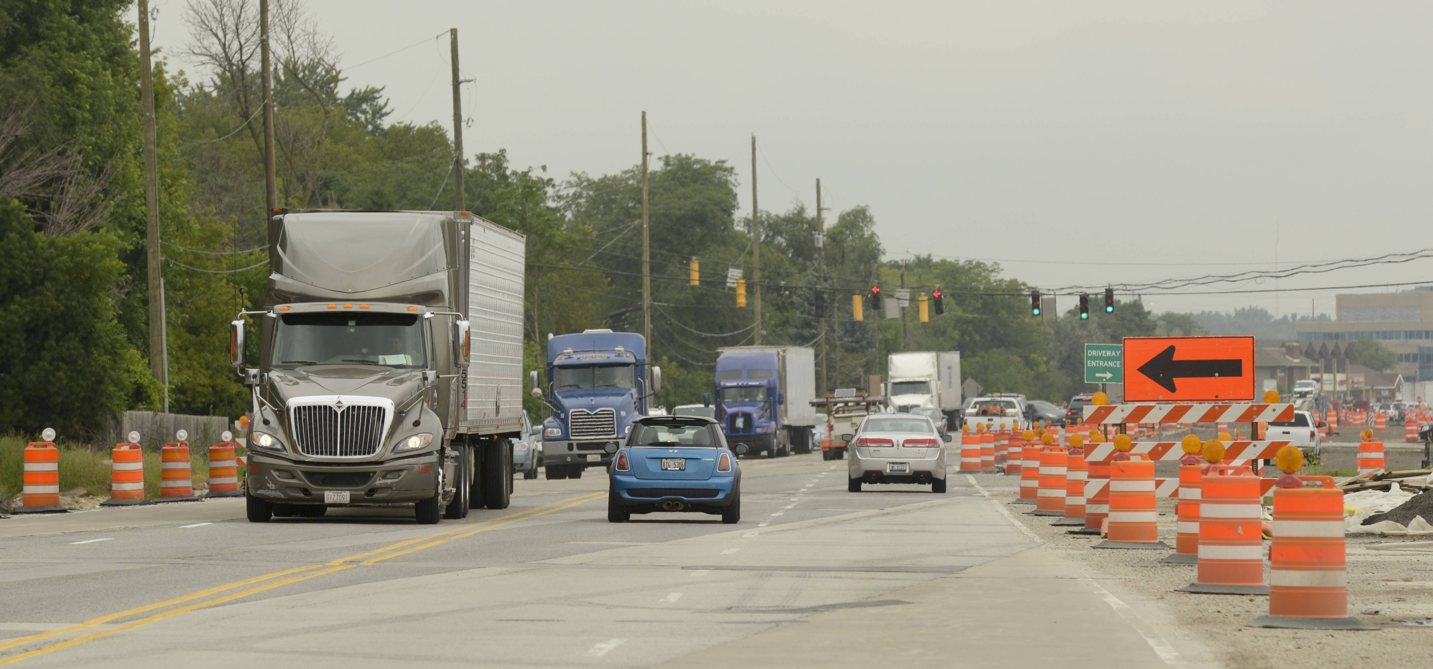 It's been almost a year since construction began on widening a three-mile stretch of Route 59 in Naperville and Aurora. The project is expected to take two years and cost nearly $90 million.