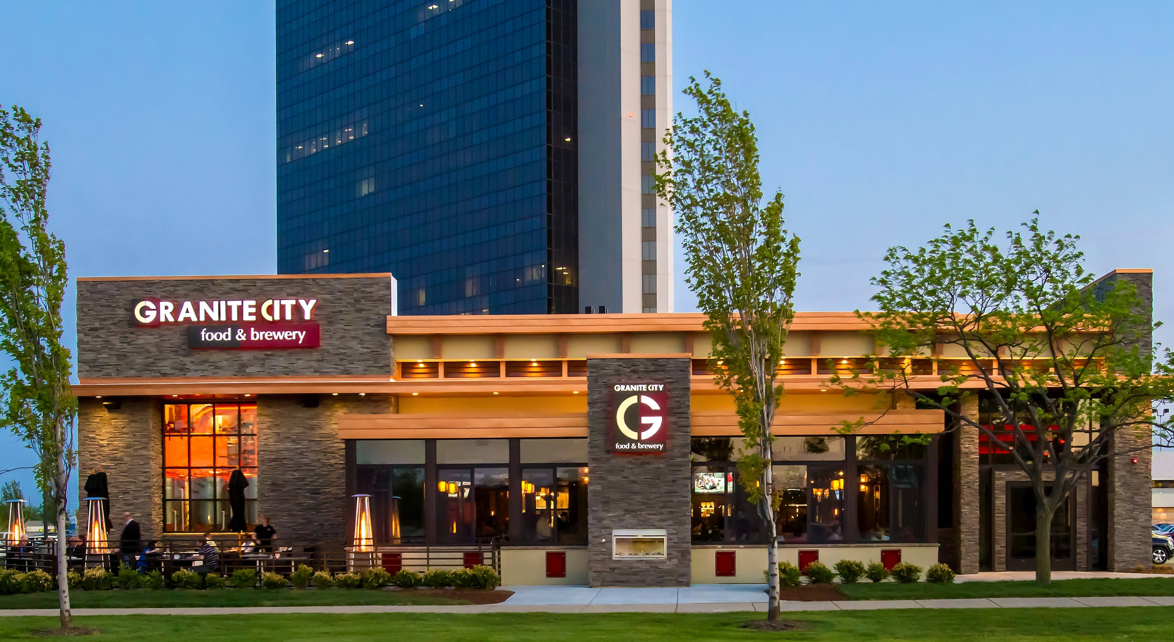 Granite City Food & Brewery will be the first of four restaurants set to open in north Naperville as part of the Freedom Plaza development, which will be anchored by an Embassy Suites hotel with a large banquet and conference facility.