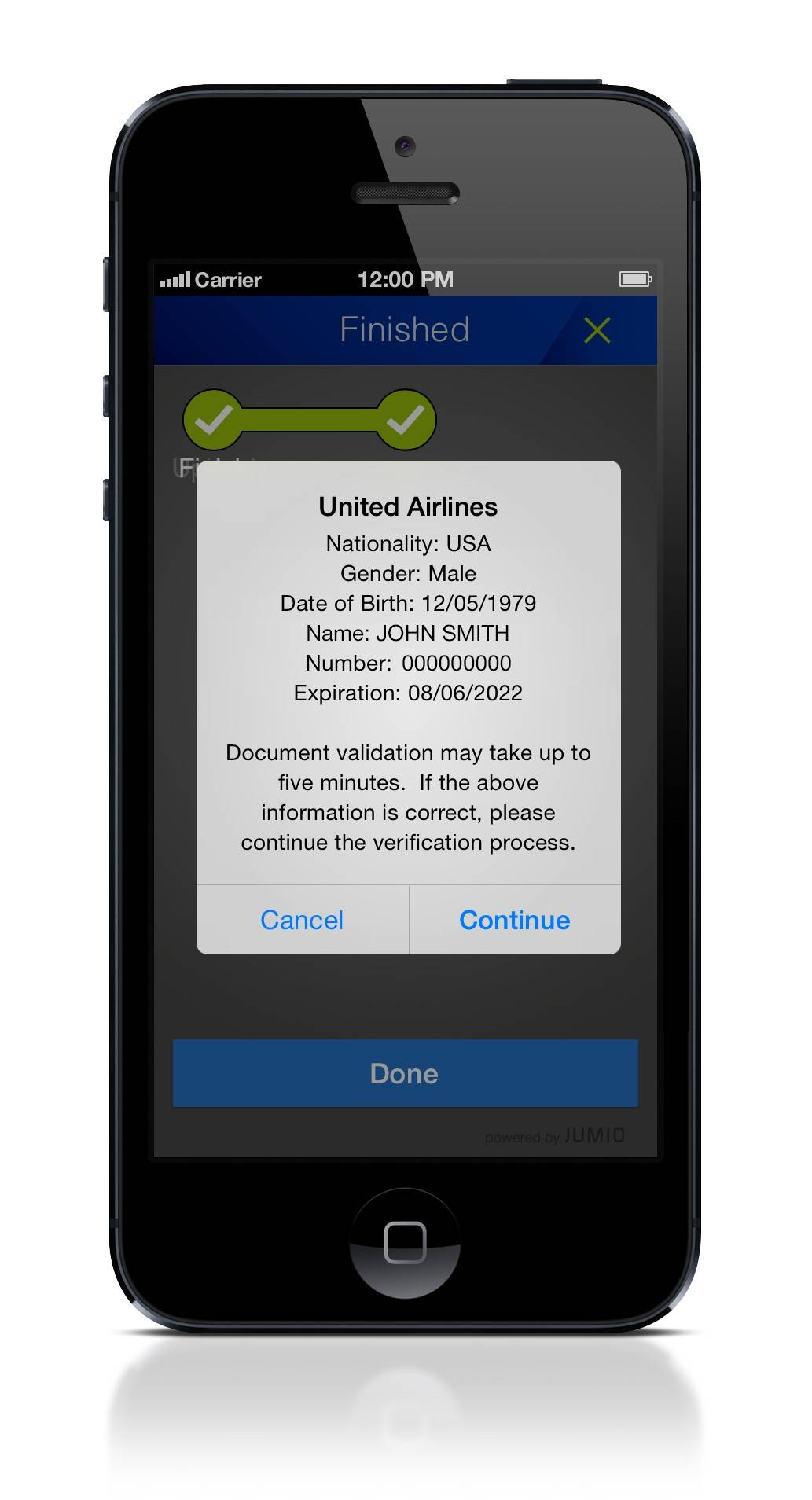 United Airlines has updated its mobile app to provide a new feature, the ability to scan your passport about 24 hours before your scheduled departure.