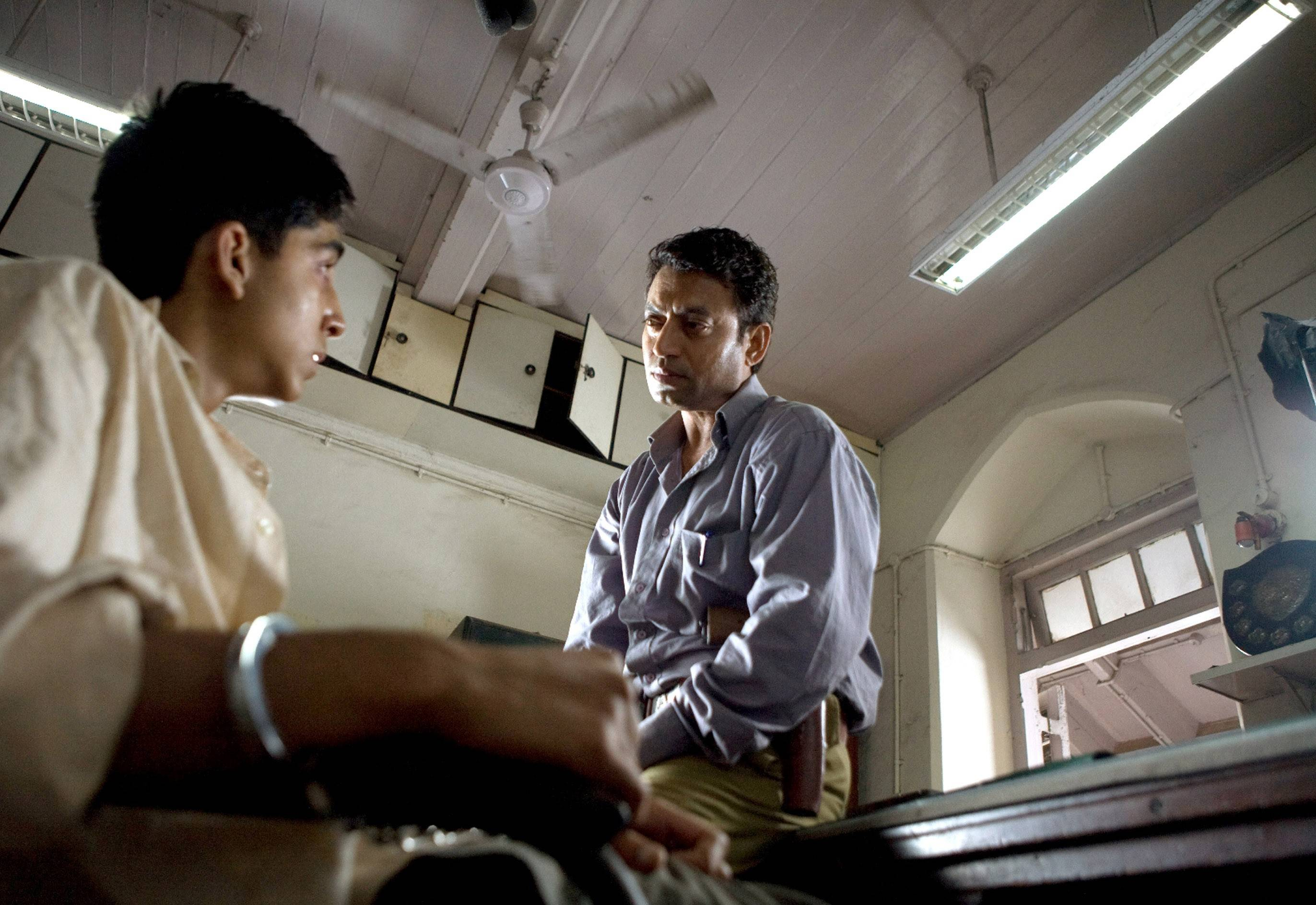 "In ""Slumdog Millionaire,"" ceiling fans are used to dress up the background."