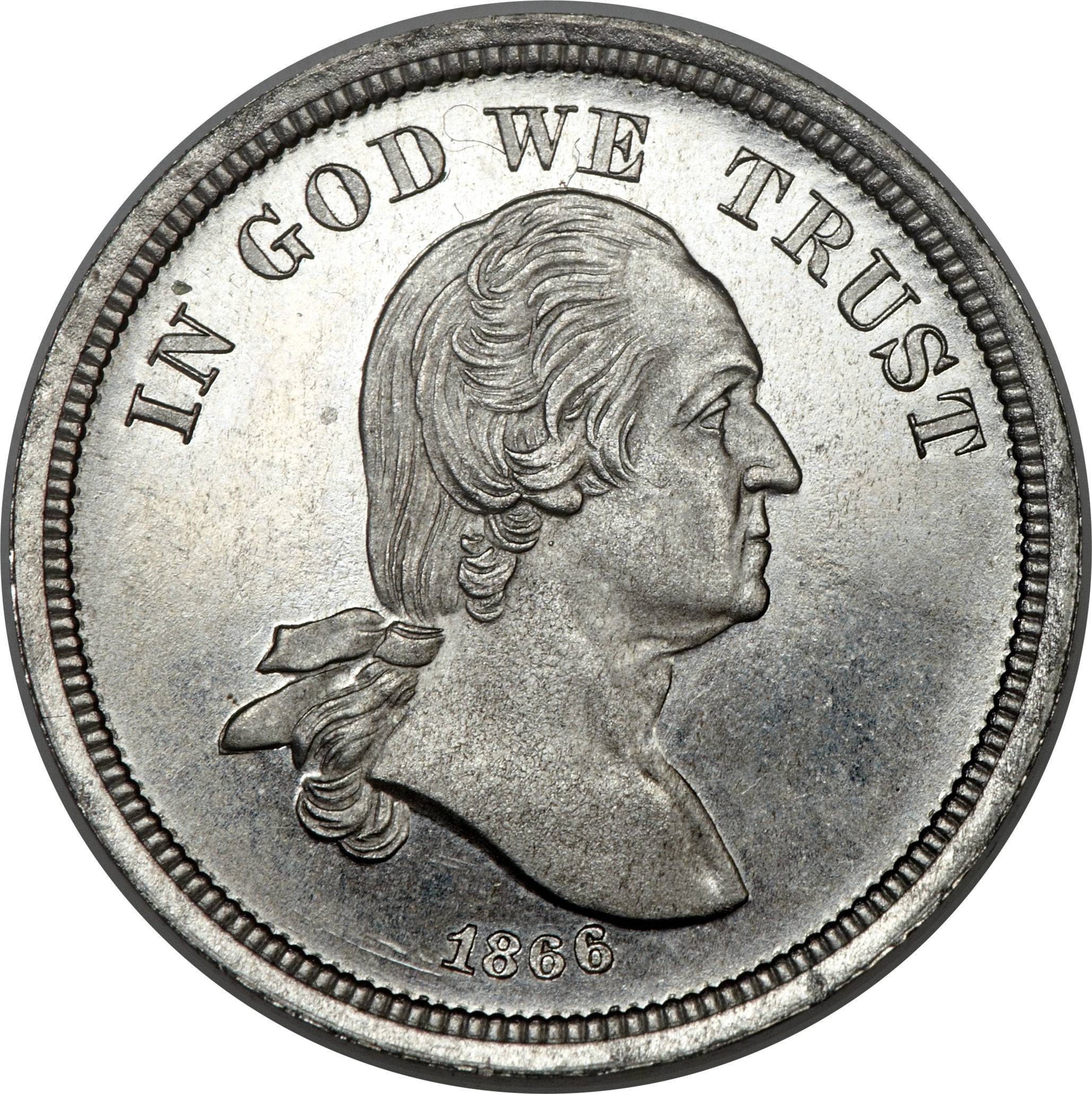 One of the historic experimental coins from the collection of the late Texas businessman and philanthropist Harry W. Bass, Jr. that will be offered by Heritage Auctions at the 2014 World's Fair of Money today in Rosemont.