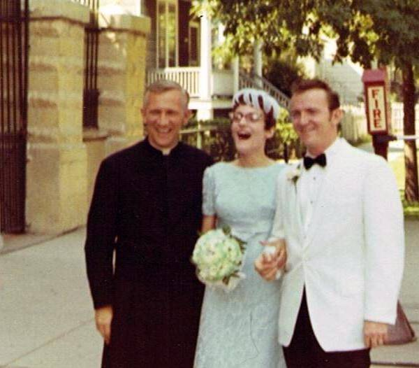 Celebrating their wedding day on Aug. 2, 1969, Lee and John MontMarquette say they are happy to renew their vows 45 years later. The Schaumburg couple are part of a group hoping to set a world record at a mass wedding vow renewal event in Schaumburg.