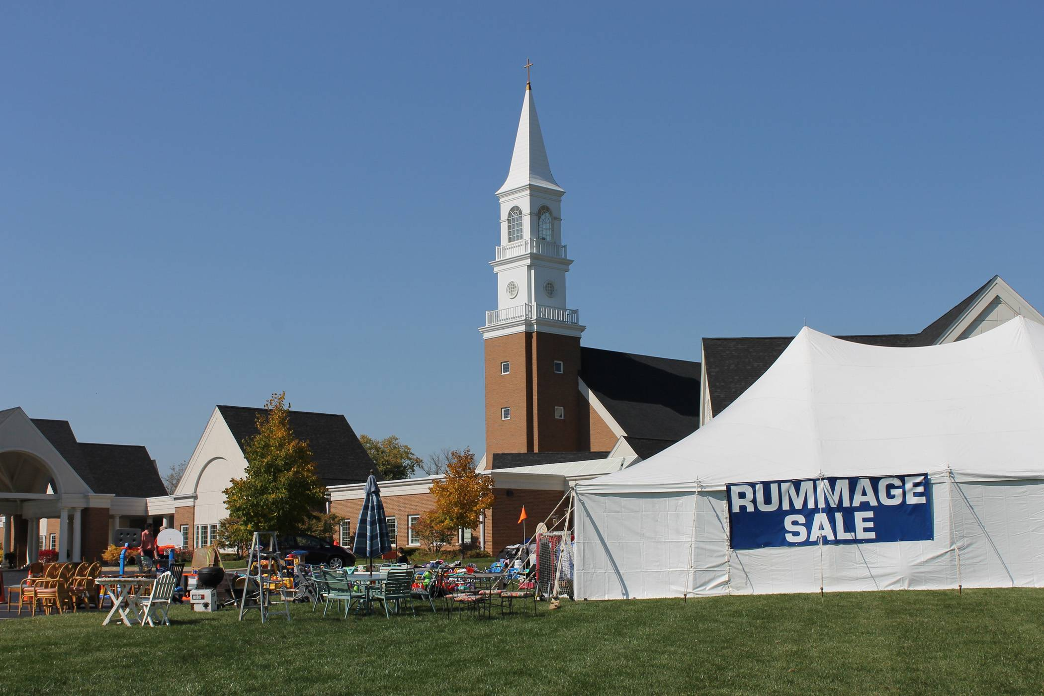 Treasures of all kinds fill a wing of the church and spill out into a tent at the Annual Barrington United Methodist Church Rummage Sale on Oct. 3 and 4.Christine Streed