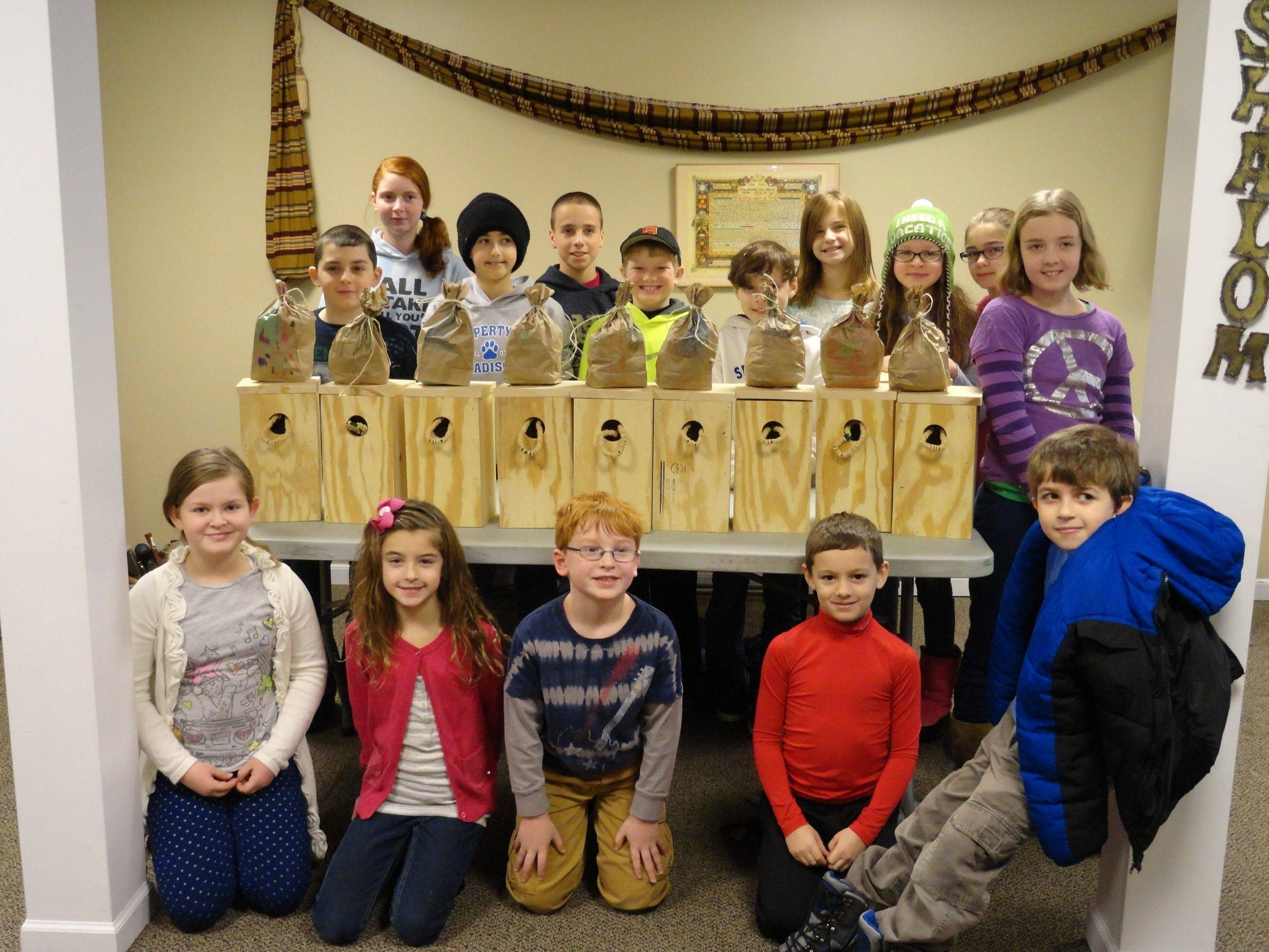Fox Valley Jewish Neighbors students in third to seventh grade all had a hand in making squirrel boxes during last year's project. Register now for the school at fvjn.org/fox-valley-jewish-school.