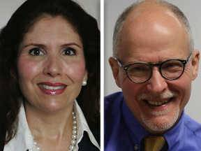 Republican Evelyn Sanguinetti and Democrat Paul Vallas are candidates for lieutenant governor.