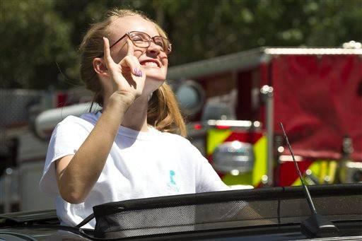 "Cassidy Stay, the lone survivor of a family massacre in Texas, paraphrased a quote by Albus Dumbledore, headmaster of the Hogwarts school of wizards from the Harry Potter books, during a public gathering days after the shootings last month. Stay said: ""Happiness can be found even in darkest of times, if one remembers to turn on the light."" Harry Potter creator J.K. Rowling has sent Stay a letter and package."