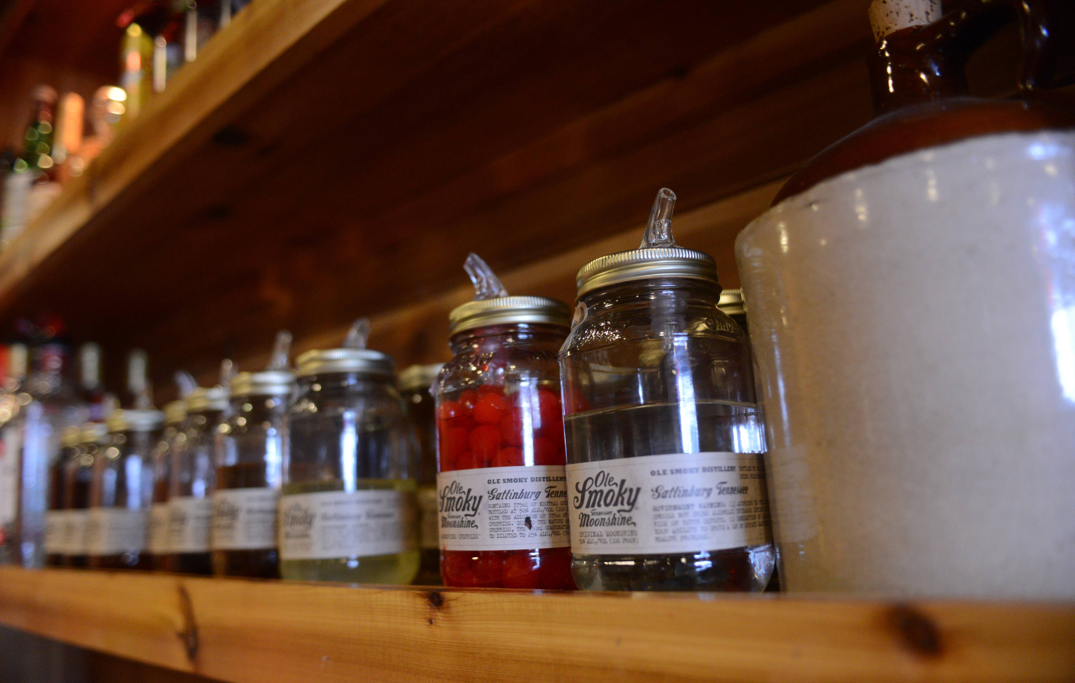 The Still Bar and Grill in Bartlett plays up its moonshine theme.