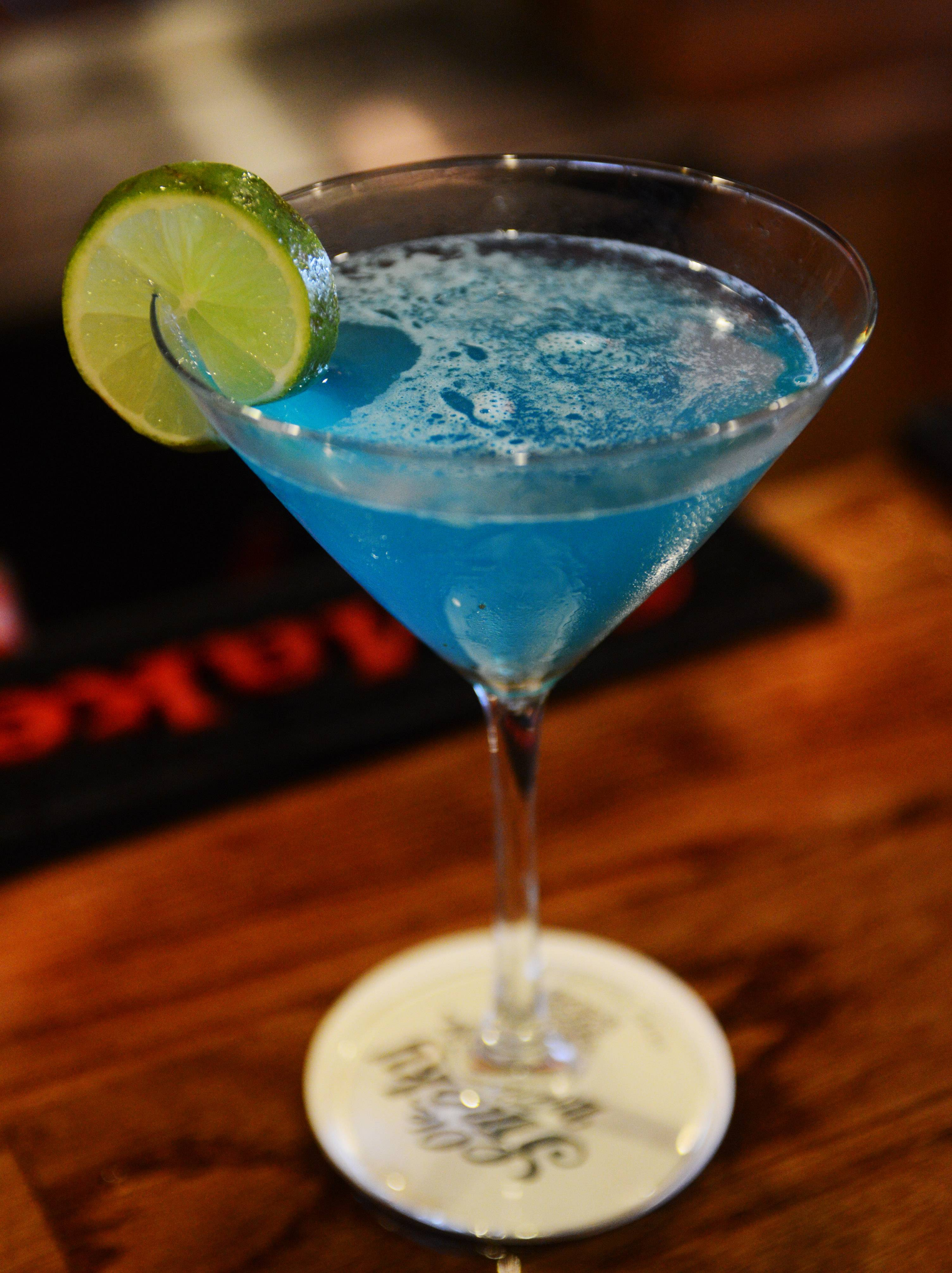 The Blue Lagoon lives up to its name at the Still Bar and Grill in Bartlett.