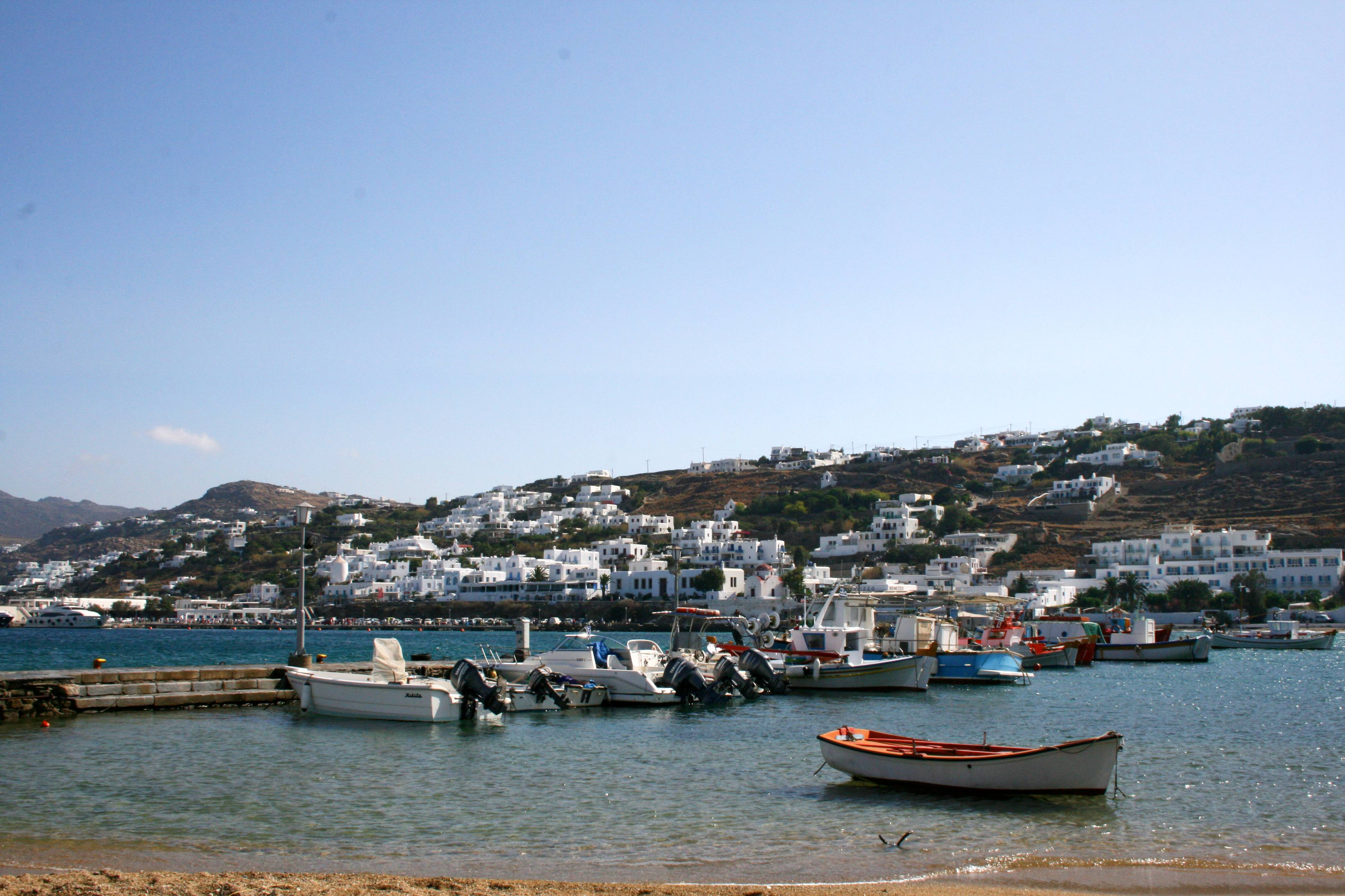 Greece's Cyclades are known for panoramic waterfront views, black-sand beaches and dramatic sunsets.