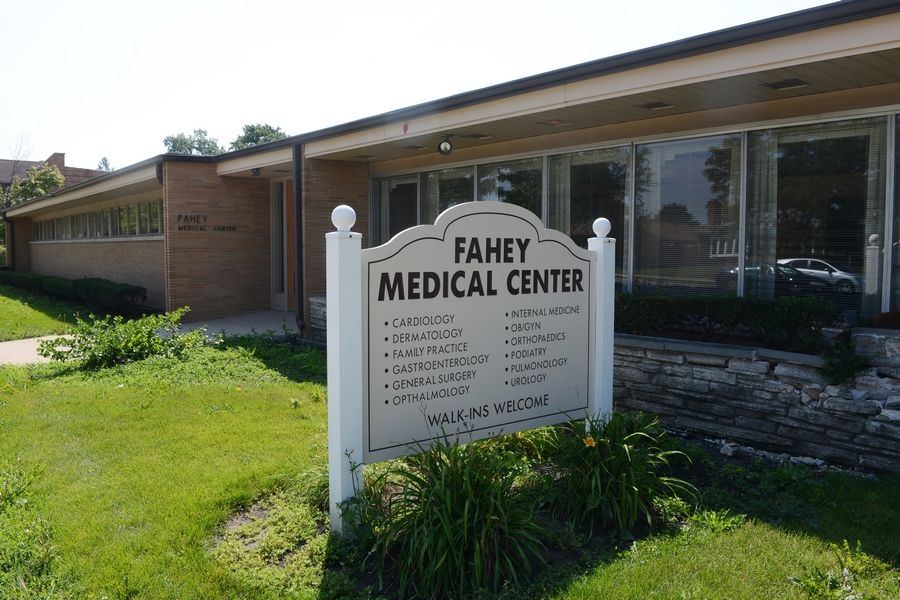 The Fahey Medical Center, which housed 15 physicians at 581 E. Golf Road, has closed as a result of foreclosure.