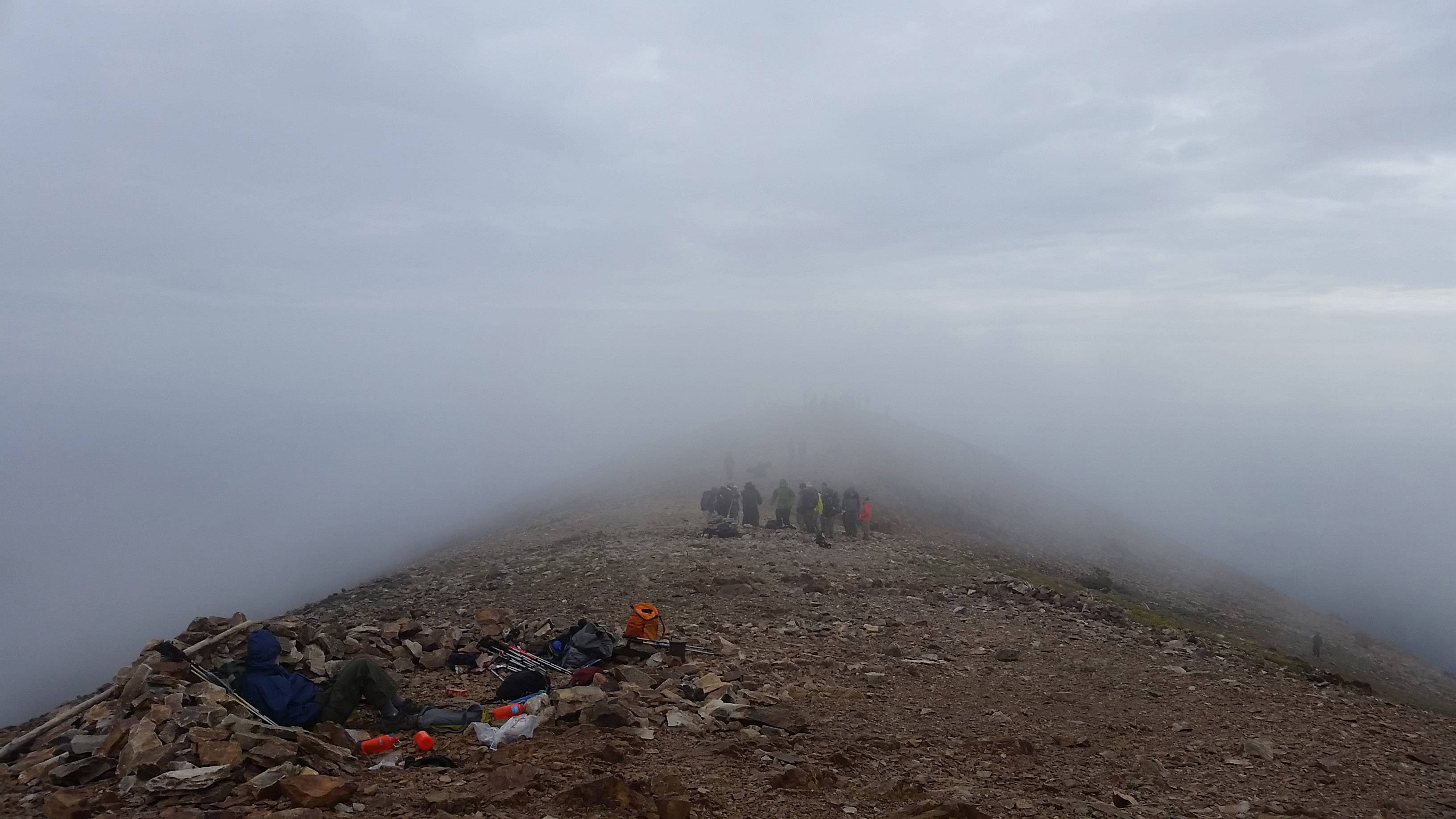 A Boy Scout troop hikes and camps in the clouds at Philmont Scout Ranch, New Mexico last week.
