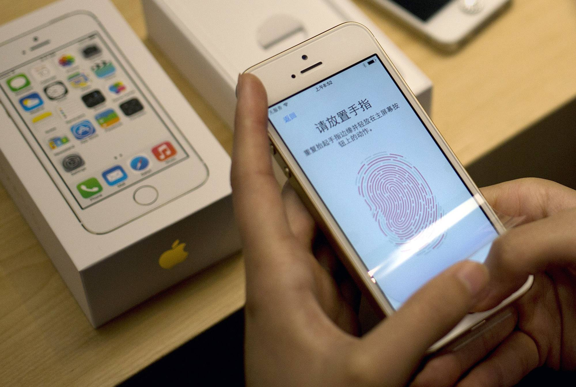 Beyond unlocking the phone, the fingerprint can be used to authenticate the purchase of apps and content within apps. This fall, Apple will begin letting outside developers use the fingerprint ID as part of their apps.