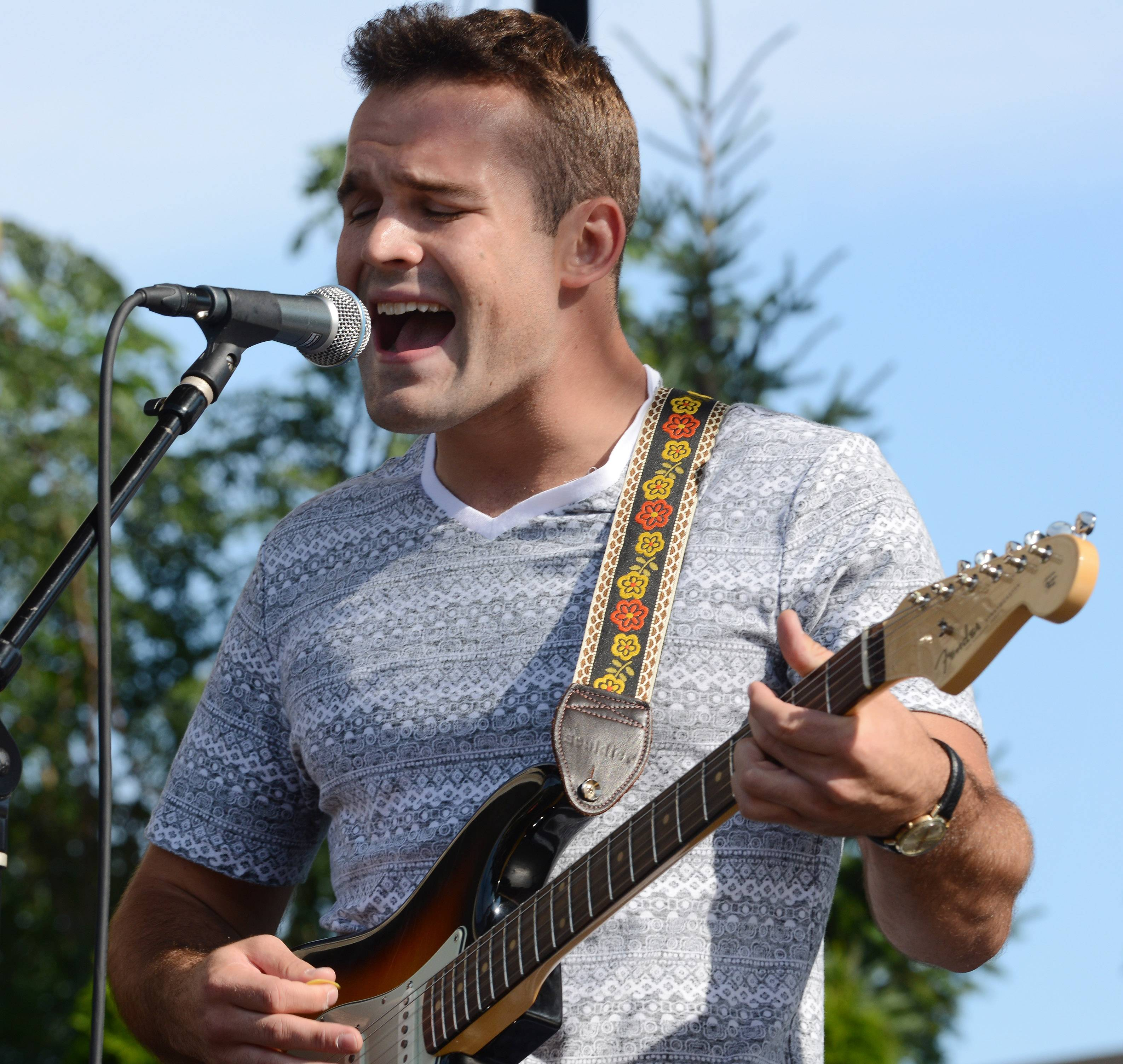 Dennis Caravello of Mount Prospect won 2014's Suburban Chicago's Got Talent competition during a final round of performances Saturday at Taste of Arlington Heights.