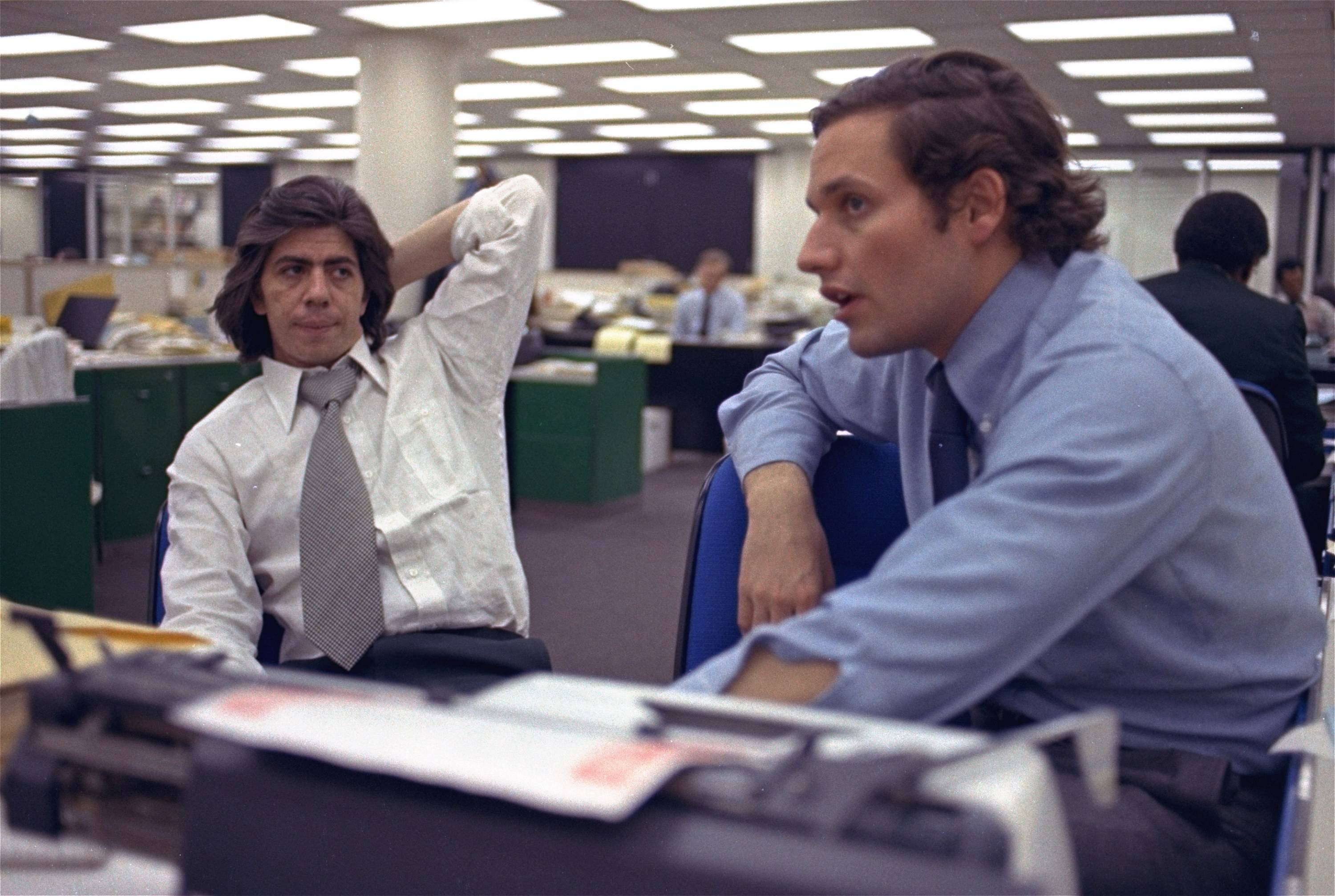 Reporters Bob Woodward, right, and Carl Bernstein, helped break the Watergate scandal that brought down the presidency of Richard Nixon. Woodward grew up in Wheaton.