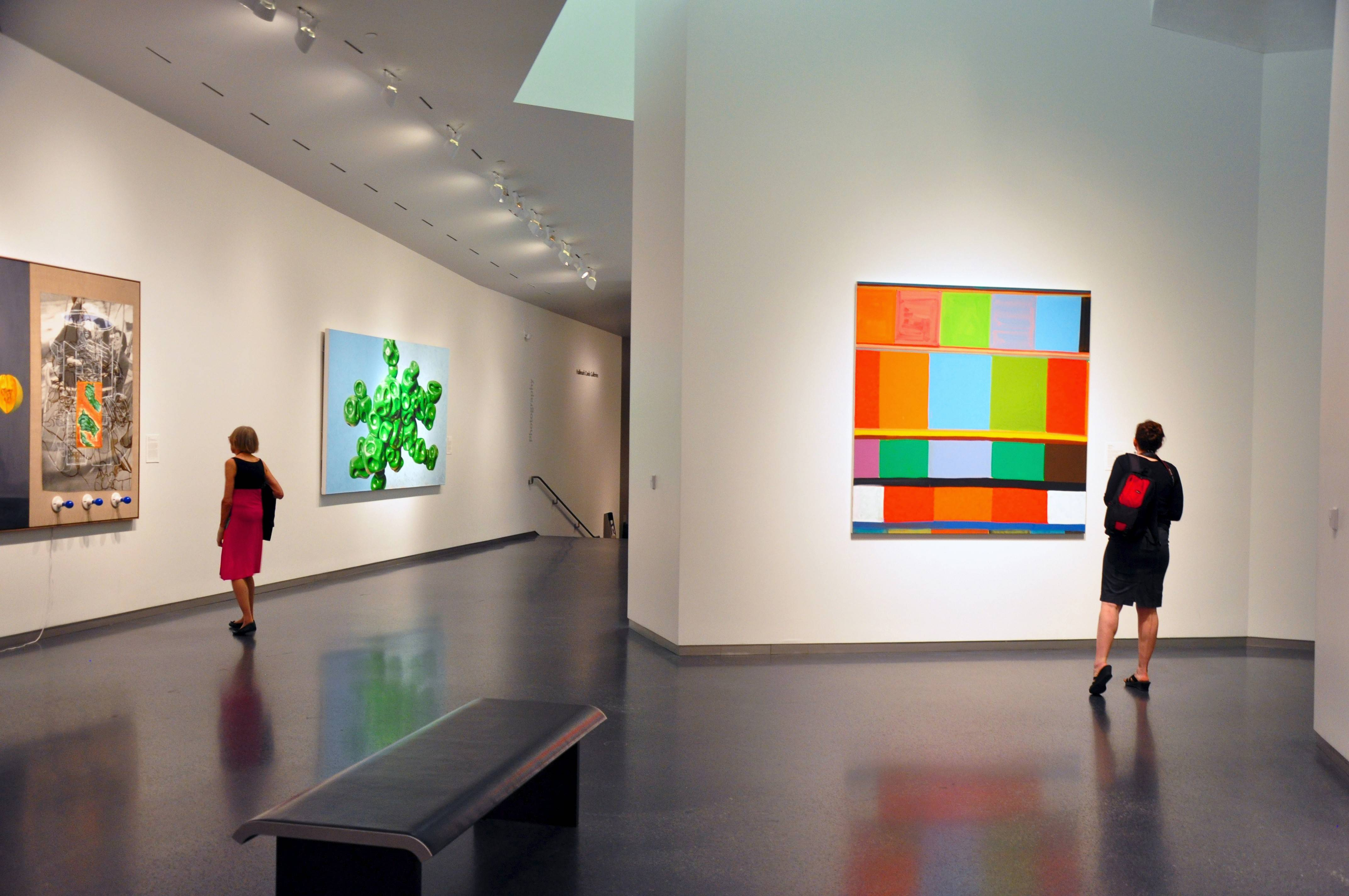 The addition of the Bloch Building at the Nelson-Atkins Museum of Art expanded the exhibition space by 71 percent. The museum contains 34,500 objects of art and has no admission charge.