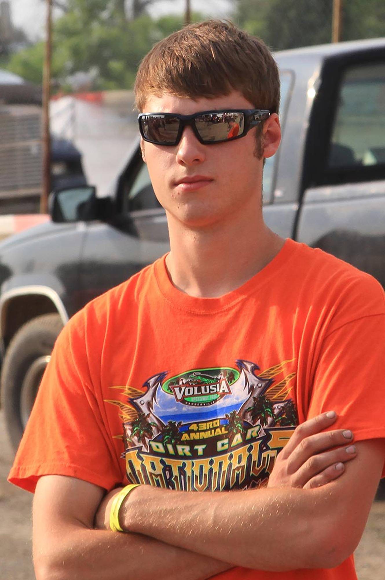 This June 28, 2014 photo provided by Empire Super Sprints, Inc., shows sprint car driver Kevin Ward Jr., at the Merrittville Speedway in Thorold, Canada. Ward was killed Saturday at the Canandaigua Motorsports Park in Central Square, N.Y., when the car being driven by Tony Stewart struck the 20-year-old, who had climbed from his crashed car and was on the darkened dirt track trying to confront Stewart following a bump with Stewart one lap earlier.
