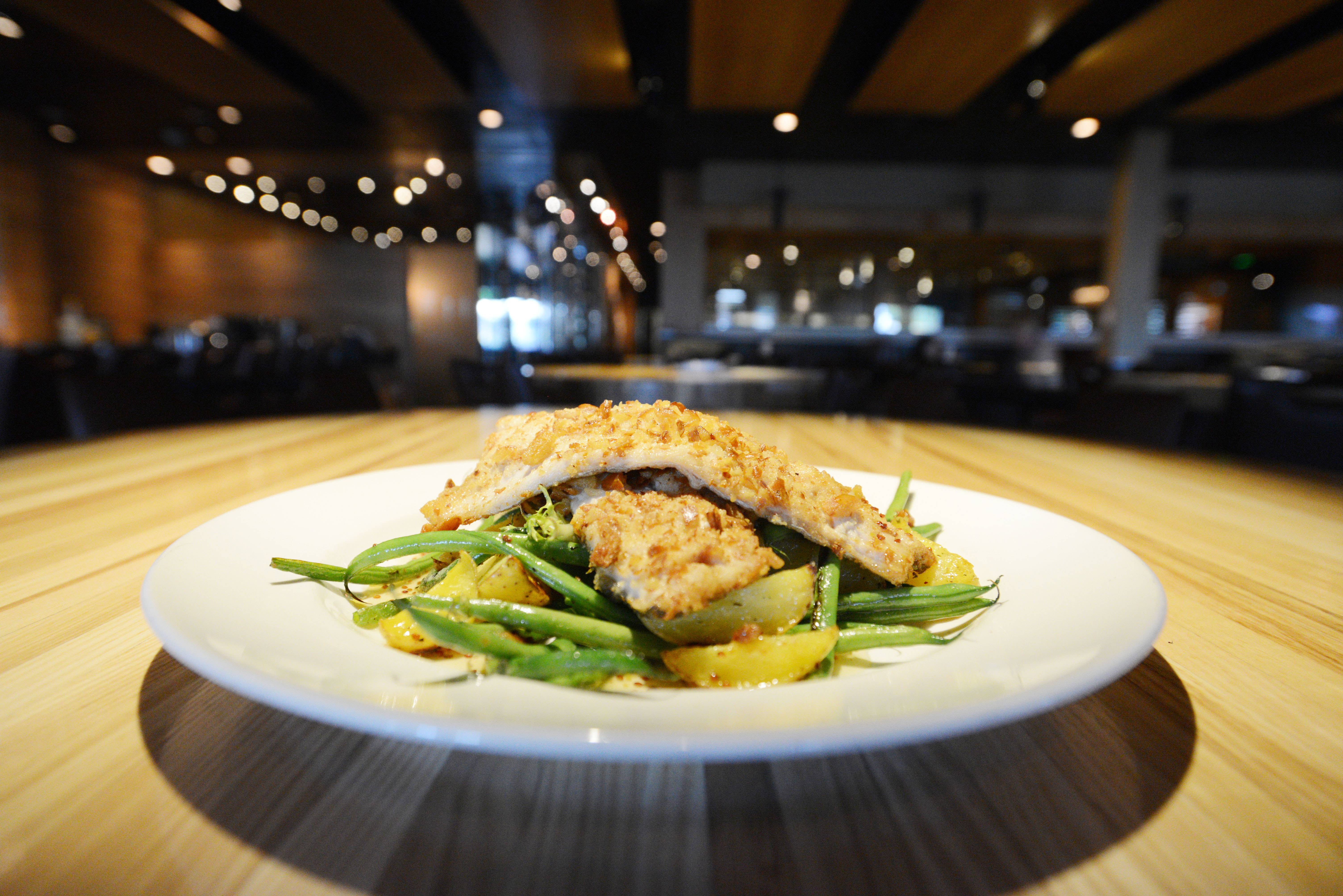 Pretzel-crusted trout is one of the hard-to-resist dinners served at Devon Seafood and Steak in Oakbrook Terrace.