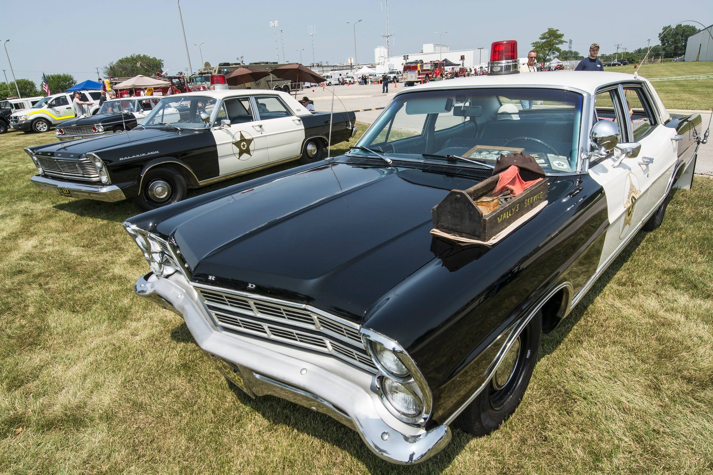 Vintage police cars and fire department vehicles, lovingly restored by auto enthusiasts, were gathered at the annual Chicagoland Emergency Vehicle Show Aug. 2.