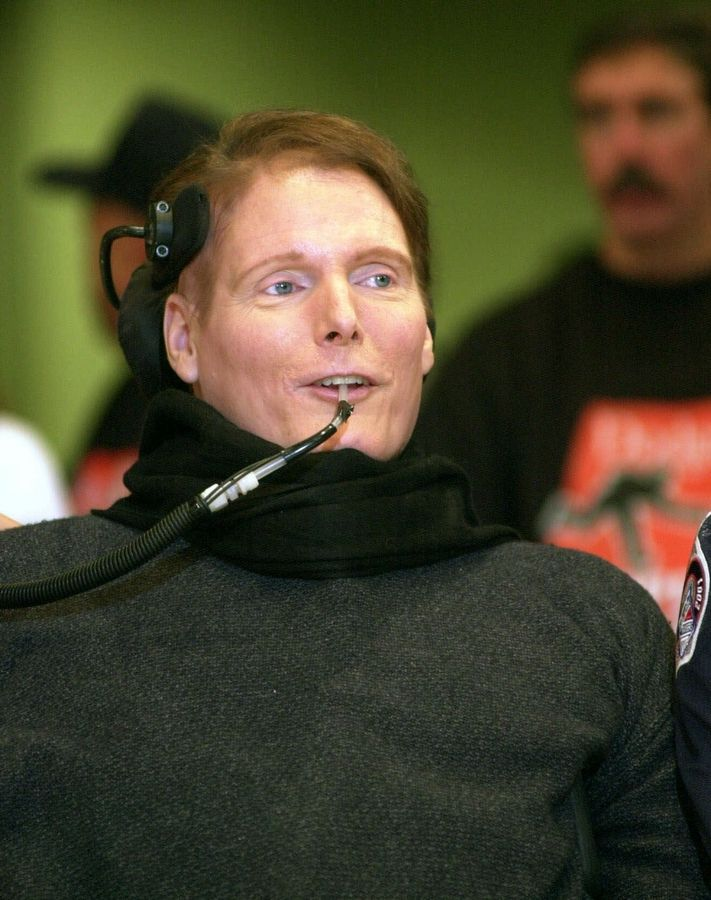 6f5ee1e0fe4 Actor Christopher Reeve was paralyzed after a horsebackriding accident in  1995