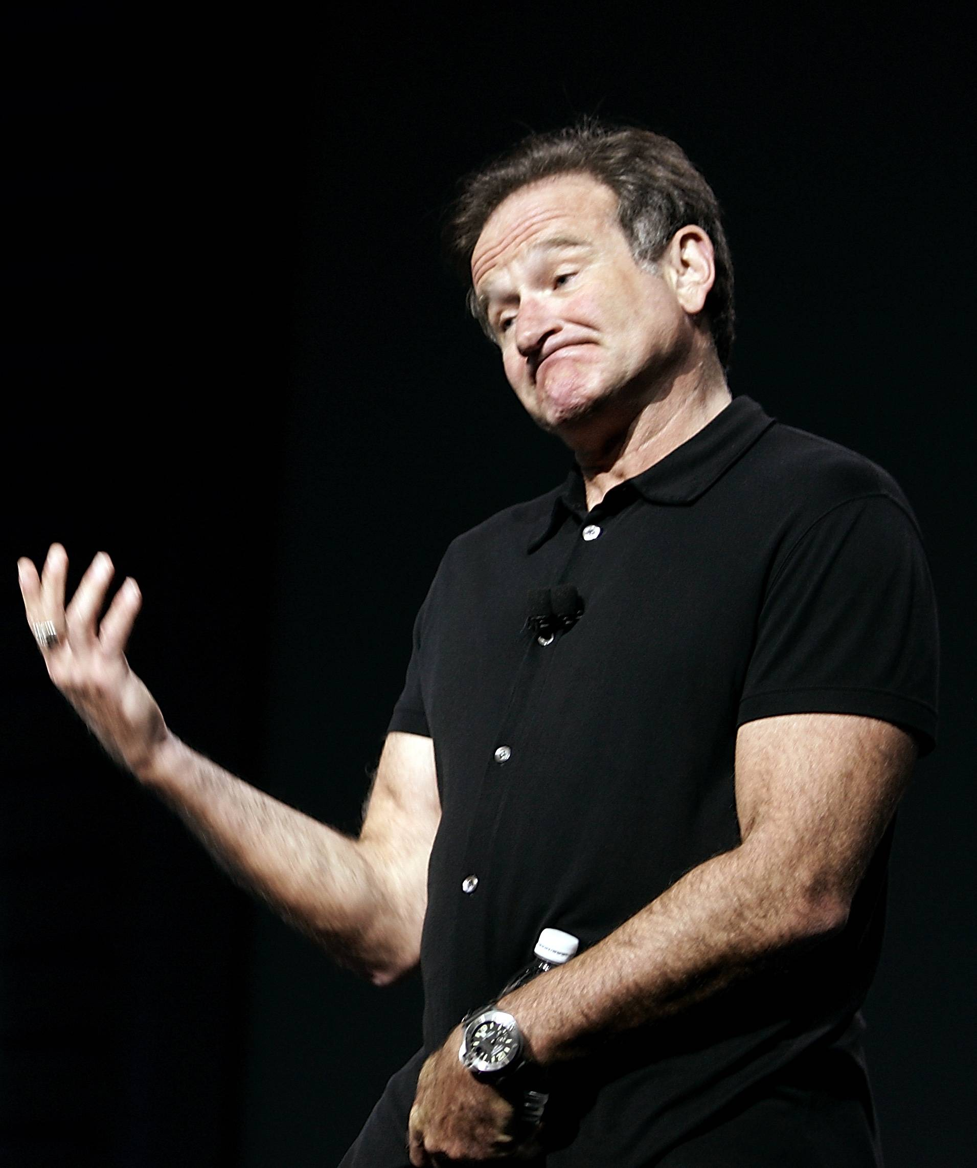Actor and comedian Robin Williams speaks at the Consumer Electronics Show in Las Vegas, in this Jan. 6, 2006 file photo.