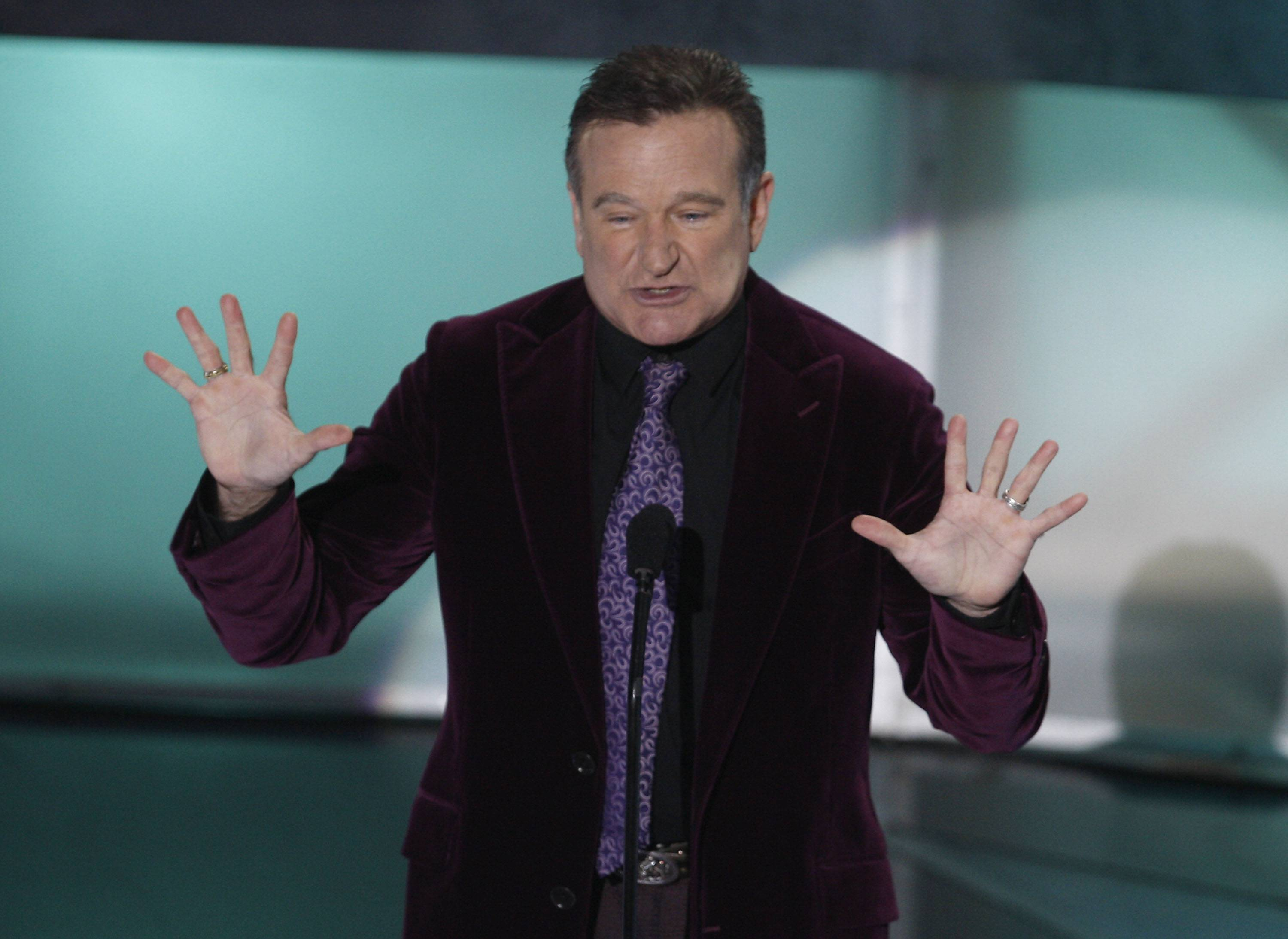 Actor Robin Williams is seen on stage at the 35th Annual People's Choice Awards on Jan. 7, 2009, in Los Angeles.