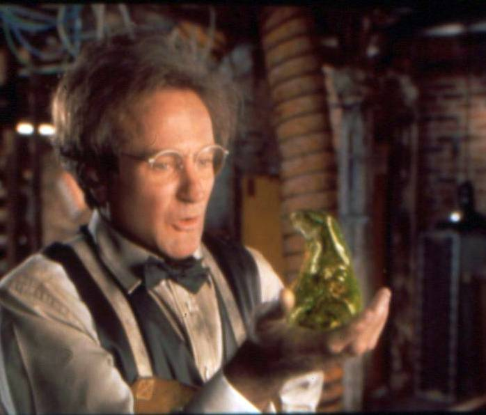 "Robin Williams stars in an update of ""Flubber,"""