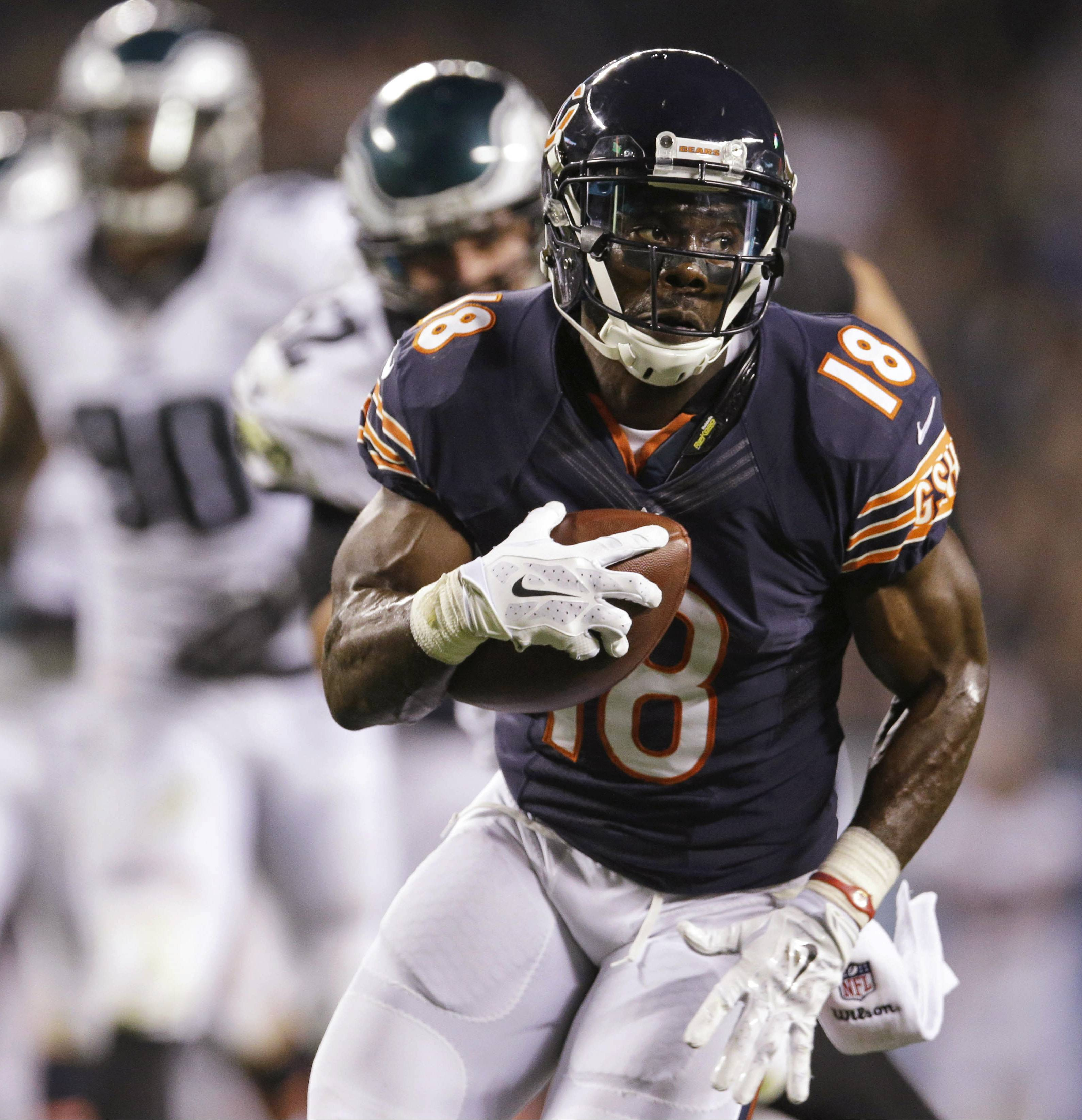Micheal Spurlock managed just 2 yards on two punt returns in the Bears' preseason opener against the Eagles.