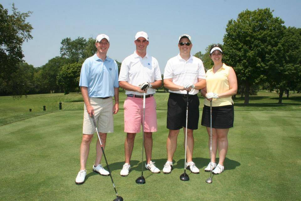 Bill Shannon, Matt McLaughlin and Jeff and Denise Urban were among the golfers at the WINGS eighth annual charity golf outing, held Monday, July 21, at the Inverness Golf Club.