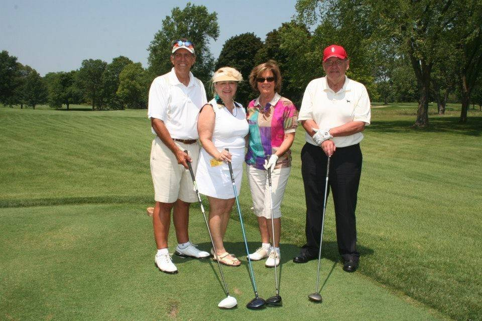 Pictured at the WINGS eighth annual golf outing are Jay and Karen Fritz and Rita and John Canning.