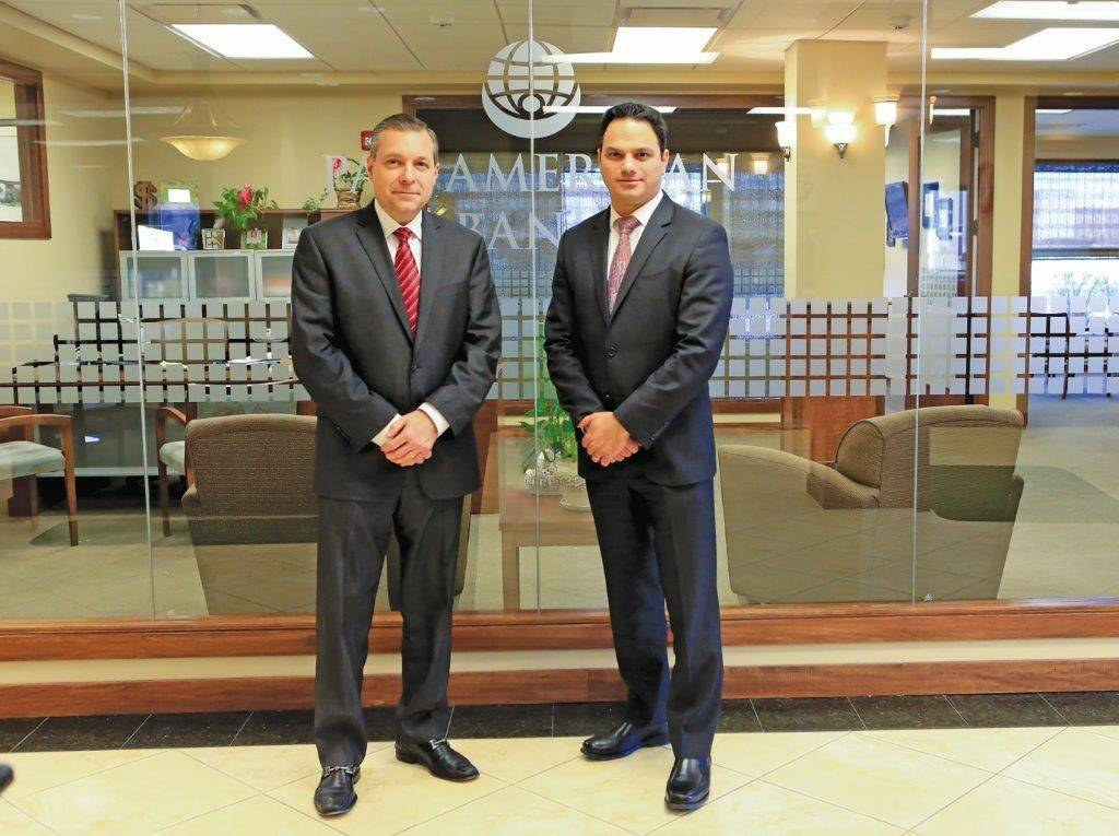 Nicholas S. Giuliano, left, is chairman and co-CEO and Frank C. Cerrone is president, vice chairman and co-CEO of Pan American Bank. They are acquiring Bank of Palatine.