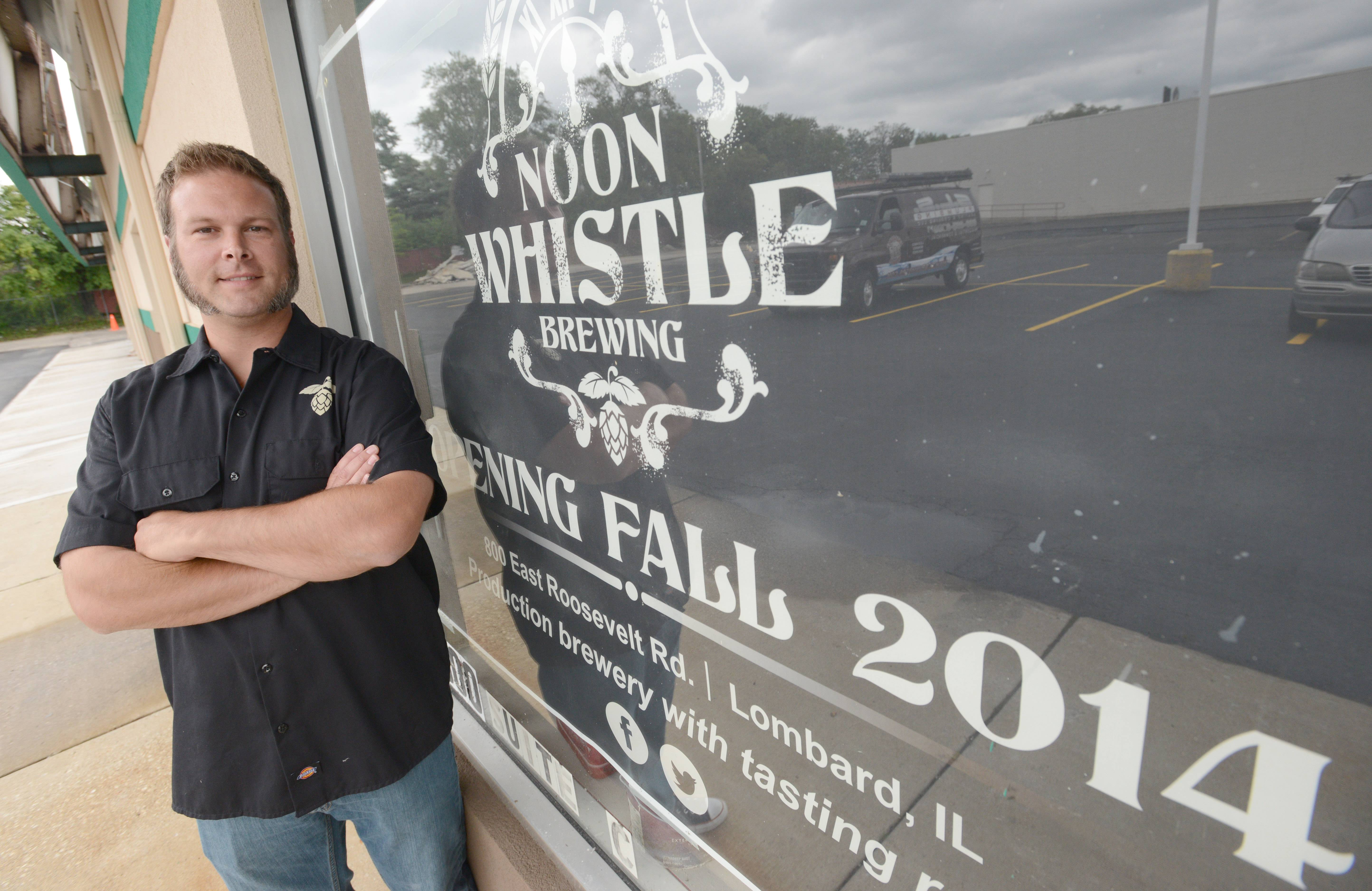Paul Michna/pmichna@dailyherald.com Paul Kreiner is the brewmaster at Noon Whistle Brewery in Lombard, slated to open this fall.
