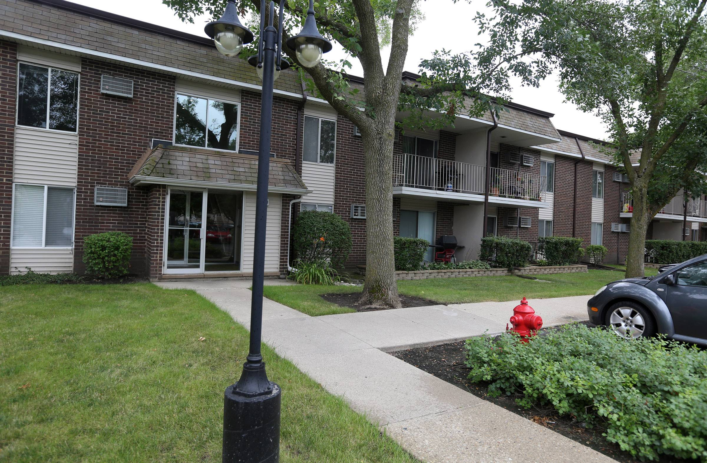 A building at Mill Creek Condominiums in Buffalo Grove on Tuesday.