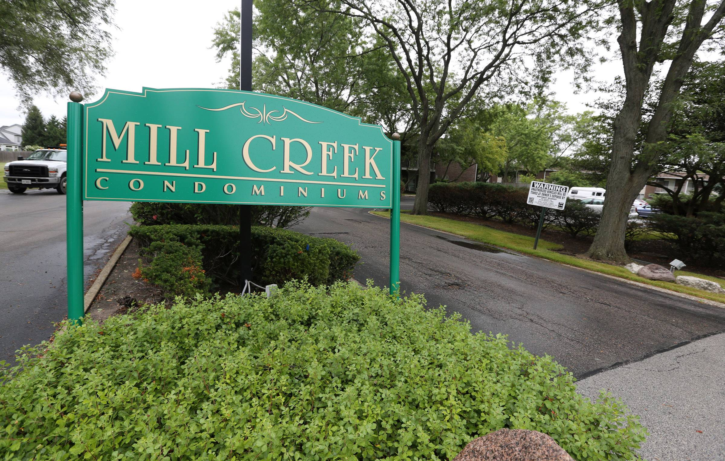 Mill Creek Condominiums in Buffalo Grove on Tuesday.