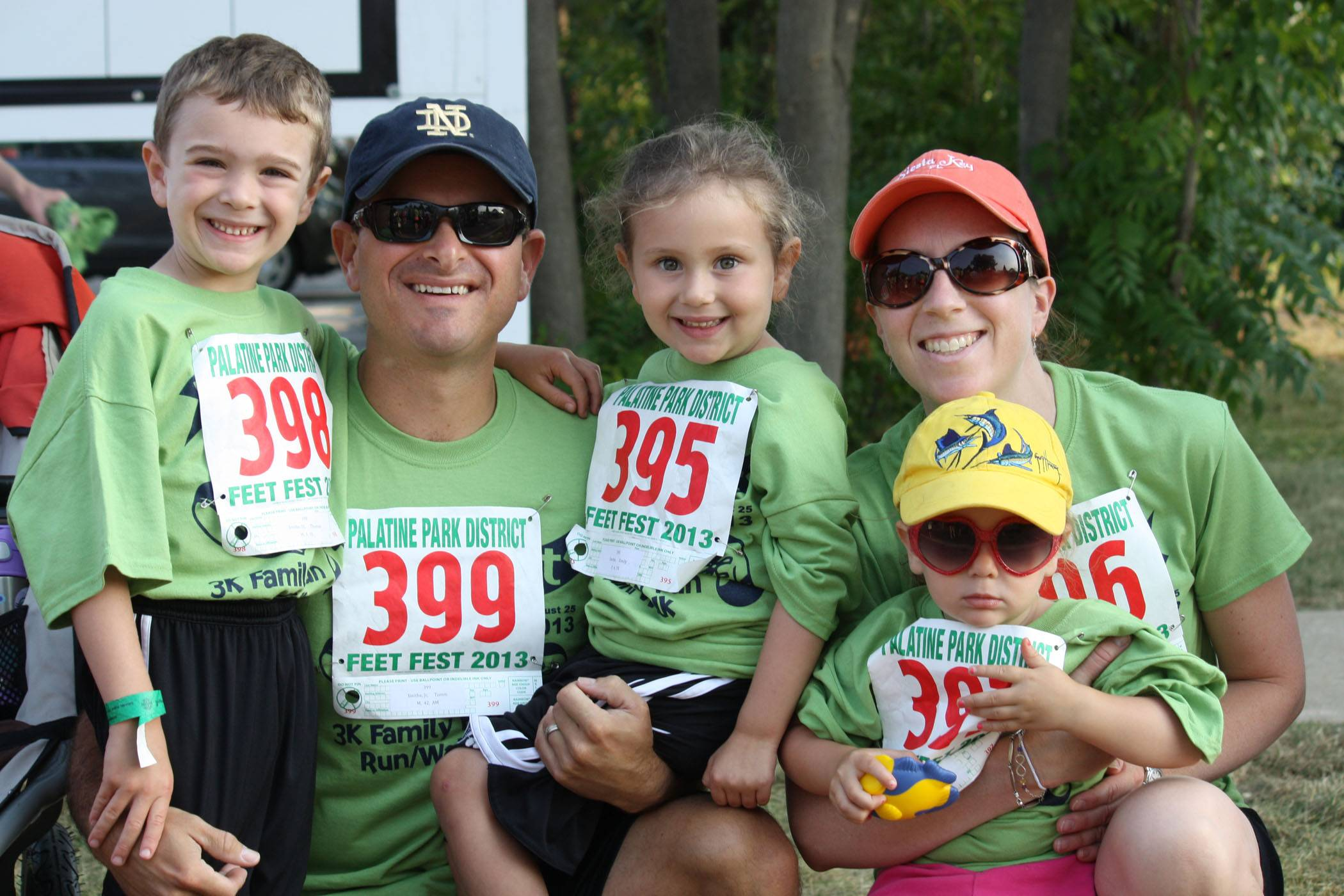 Runners and walkers of all ages come out for the annual Feet Fest 3K Family Fun Run/Walk in Palatine.