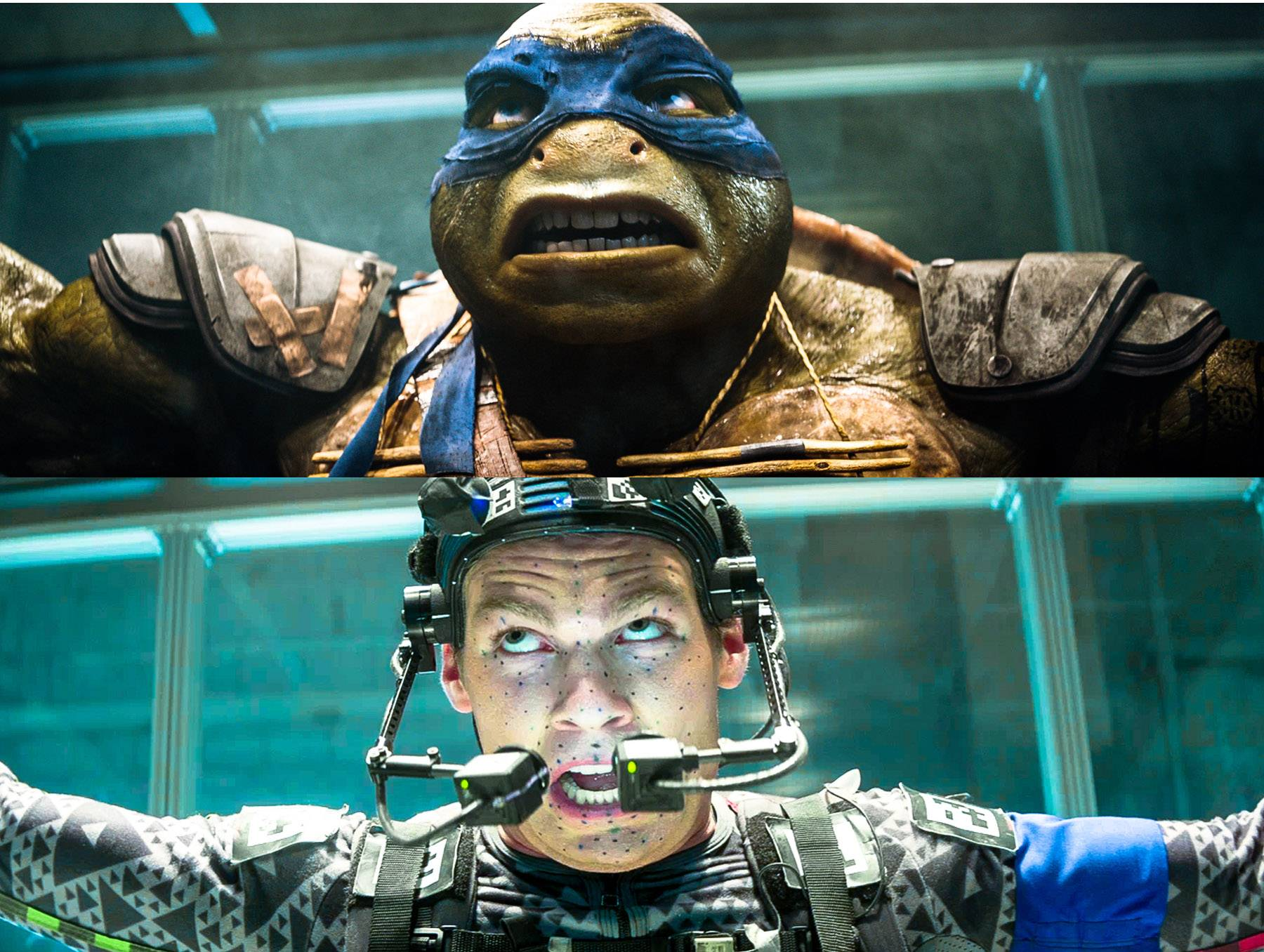 "For his role as Leonardo in the new ""Teenage Mutant Ninja Turtles,"" former St. Charles resident Pete Ploszek donned a skintight gray get-up, a shell-shaped backpack and a helmet equipped with cameras to capture his facial expressions. His performance guides the digital animators who produce the finished product."
