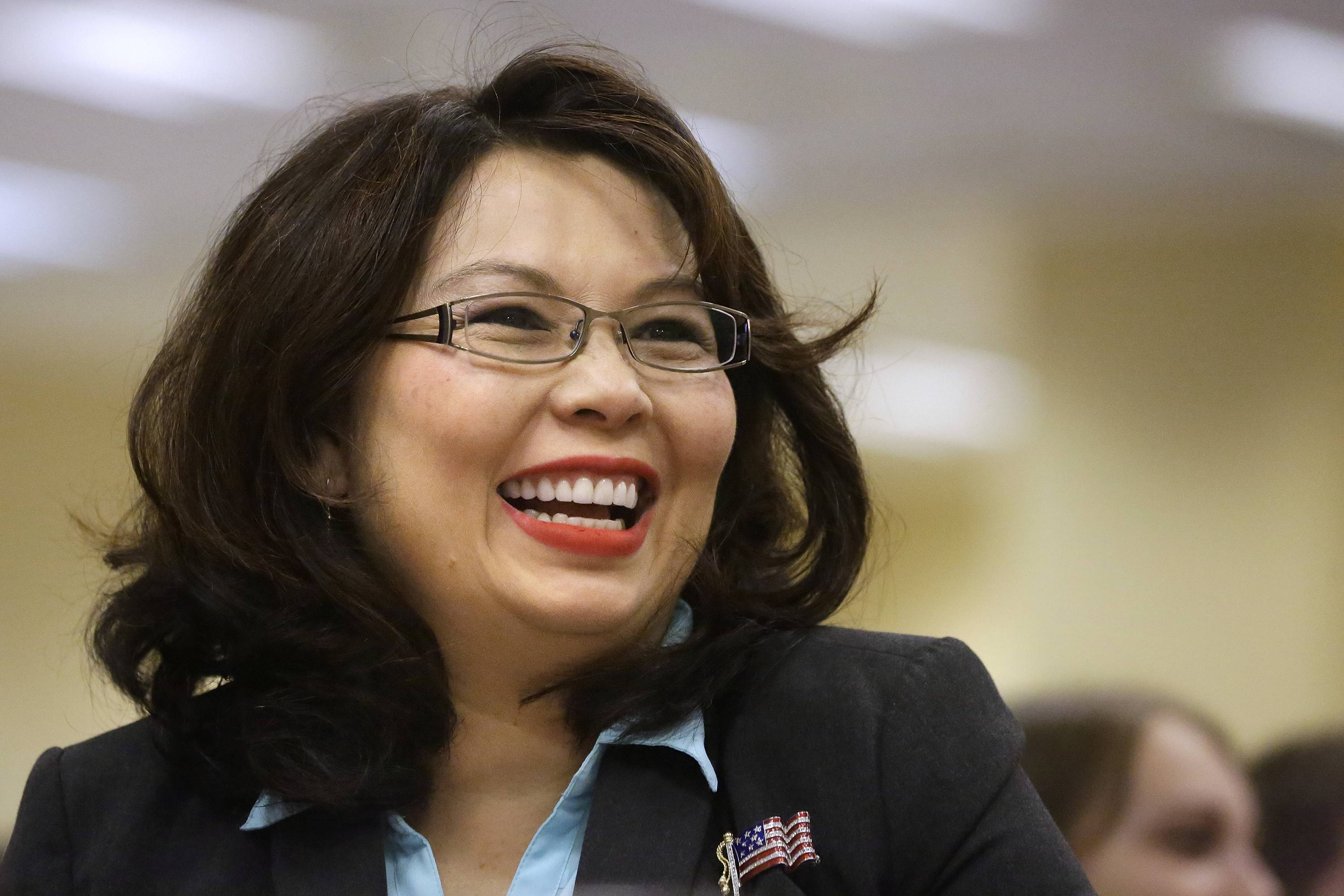 U.S. Rep. Tammy Duckworth, a Hoffman Estates Democrat, gave the keynote speech at Democrats' annual breakfast during the Illinois State Fair Wednesday.