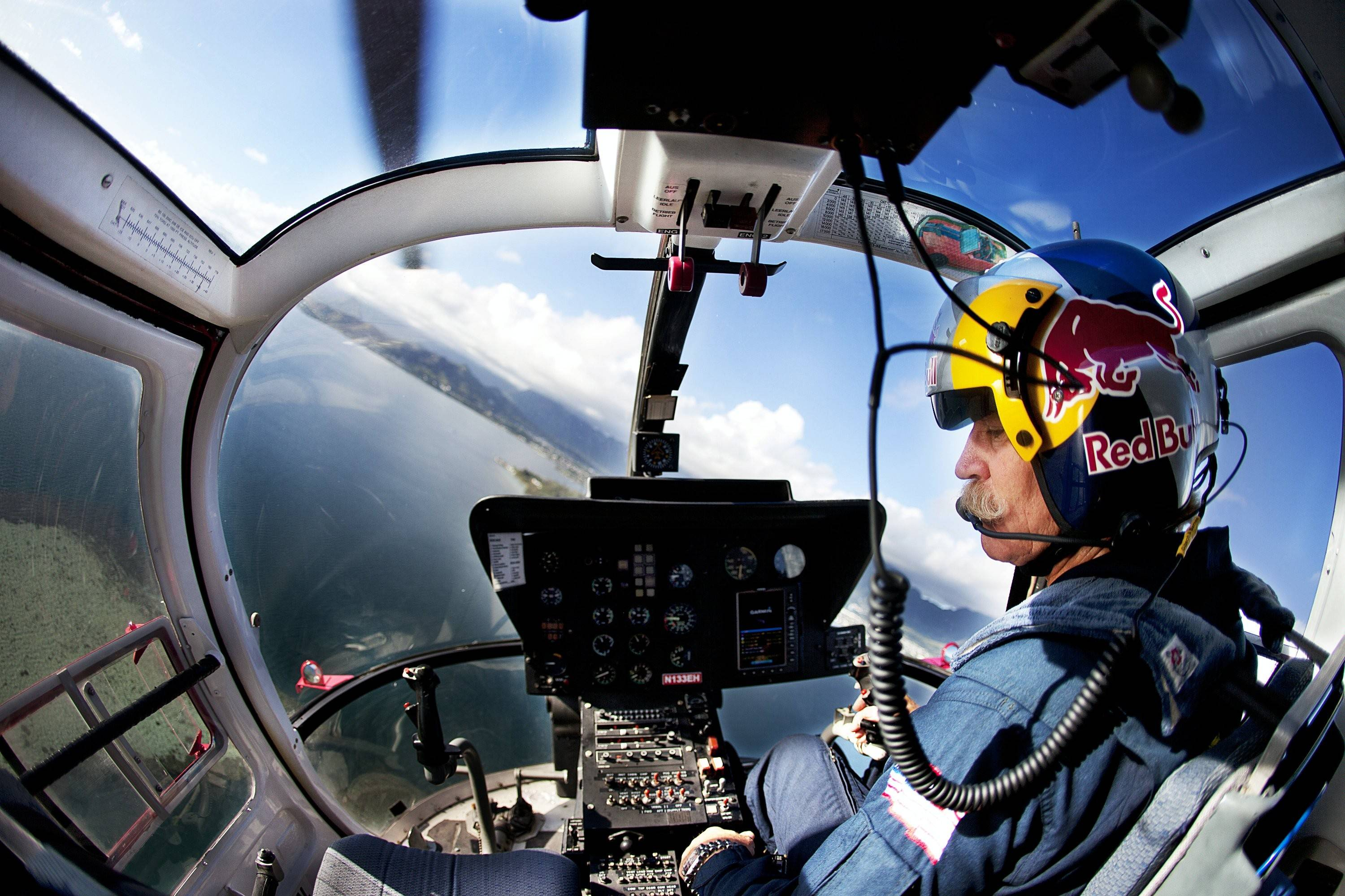 Chuck Aaron will perform in the Red Bull helicopter for the Chicago Air & Water Show. He is the only civilian pilot licensed to perform helicopter aerobatics in the United States.